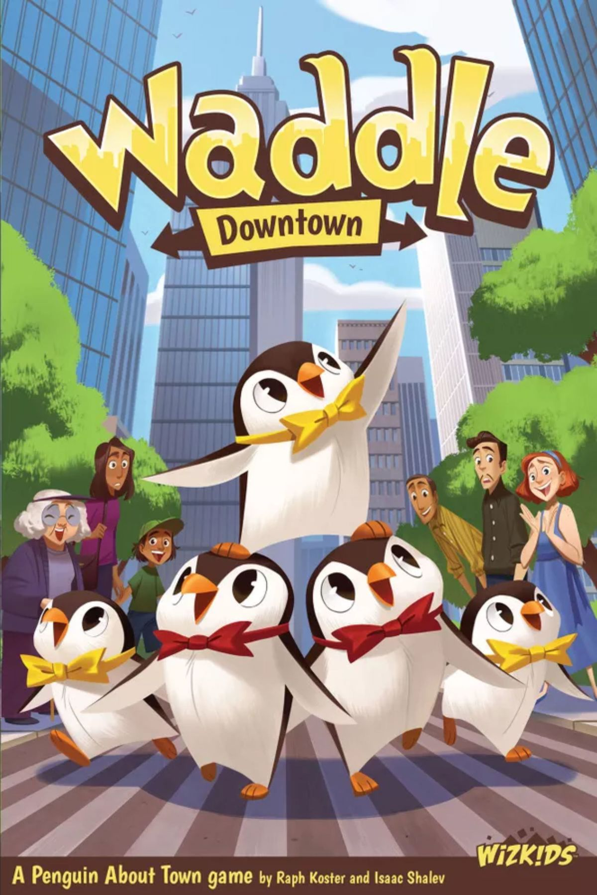 Cover art for Waddle Downtown shows a group of adorable penguins crossing the street. It is heartwarming, and chilling, as the insensate evil lurks in the heart of a major metropolitan city. Damn them. Damn their adorable little bowties to hell.