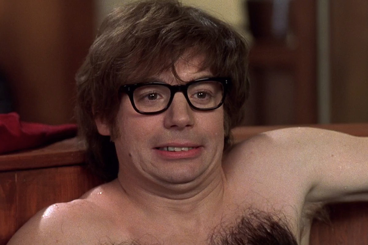Austin Powers in a hot tub