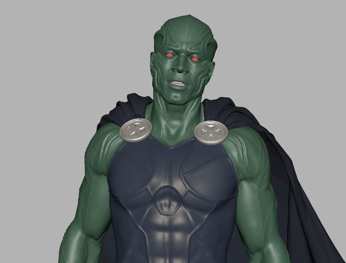 Martian Manhunter incomplete Justice League animation