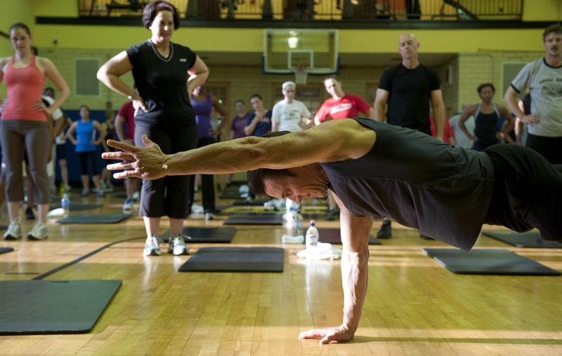Horton Demonstrates P90x At A Gym In Washington Dc Photo Getty Images