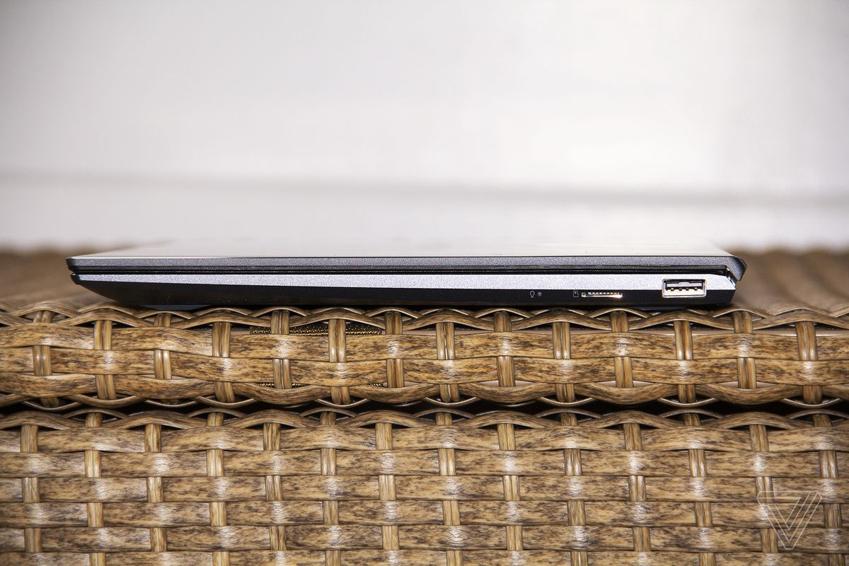 The ports on the right side of the Asus Zenbook 13 OLED.