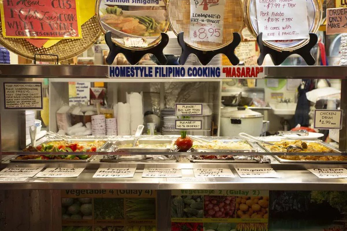 The counter at Oriental Mart