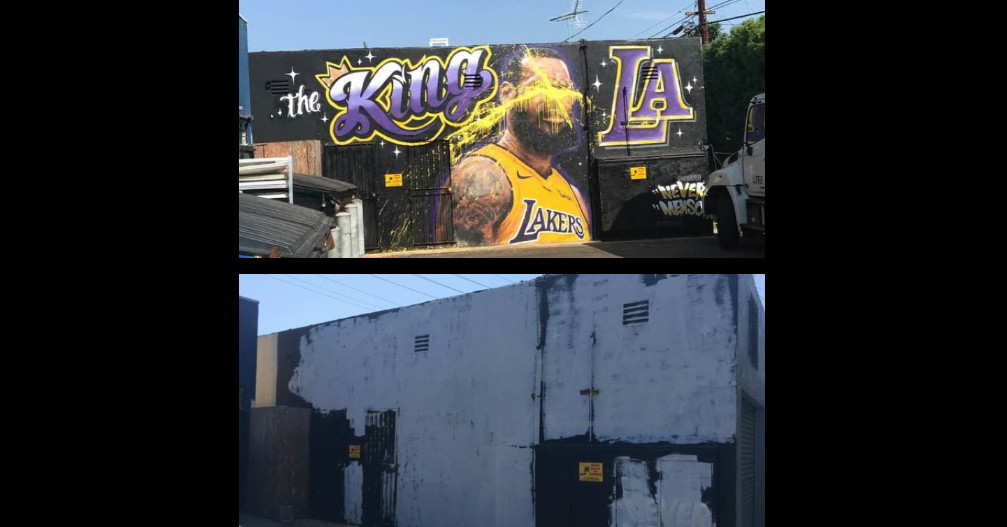 LeBron James mural in L.A. painted over after repeated vandalism