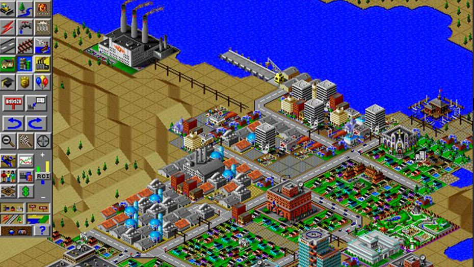 A screen shot of a city from SimCity 2000