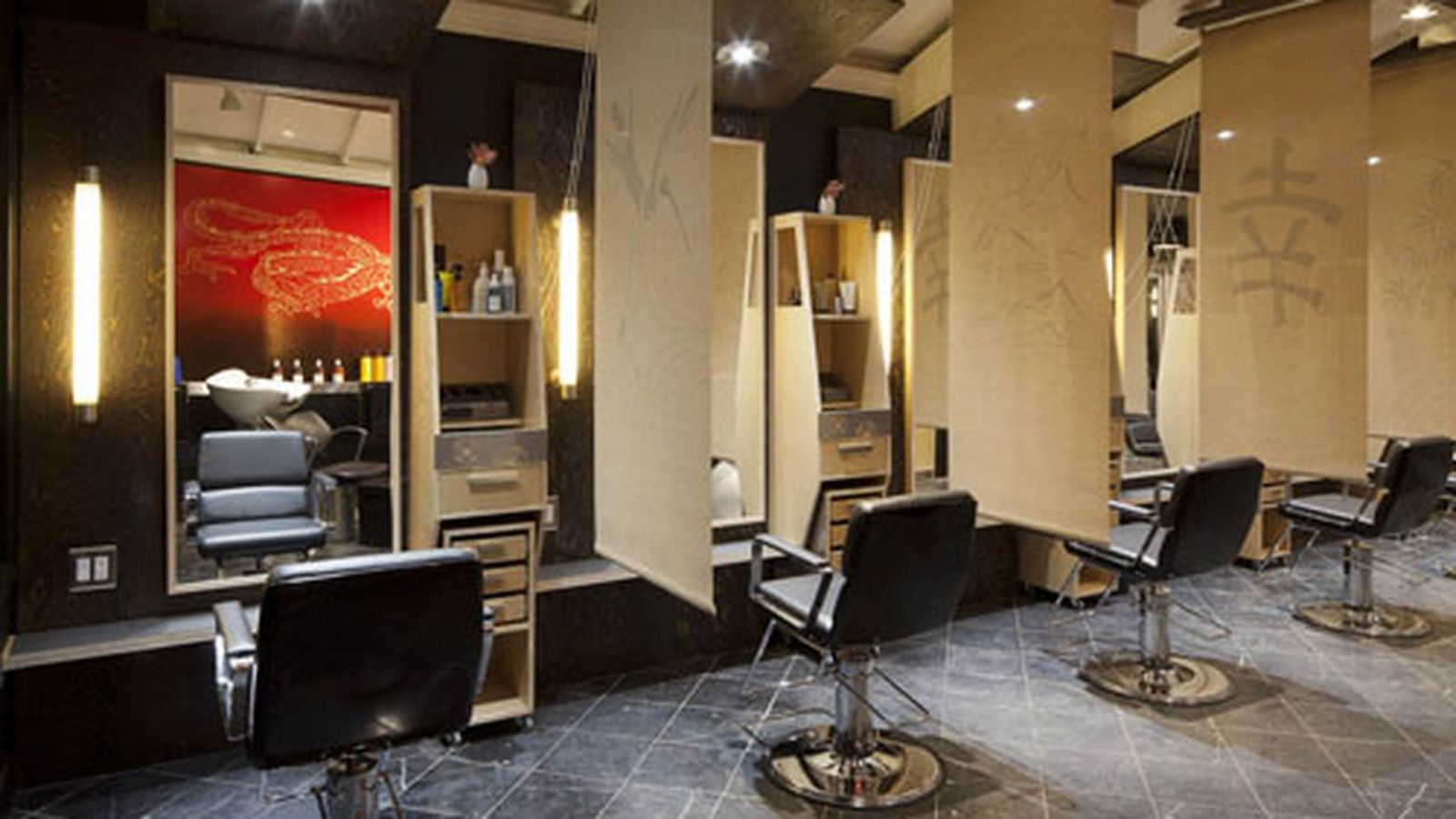 Идеи интерьера для парикмахерской фото