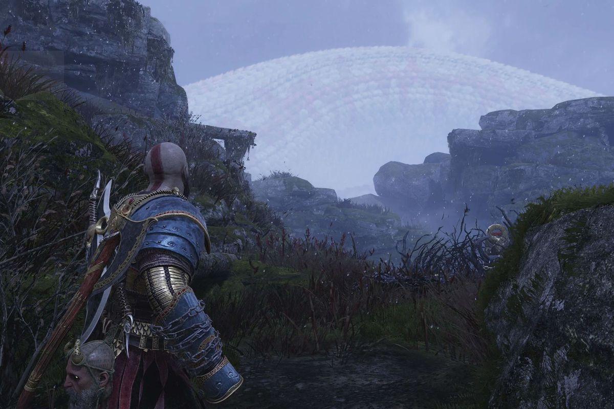 Kratos in Hail to the King Favor Konunsgard