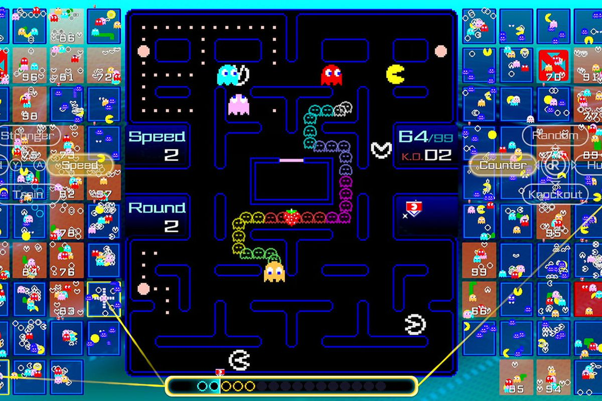 The playing field of Pac-Man 99
