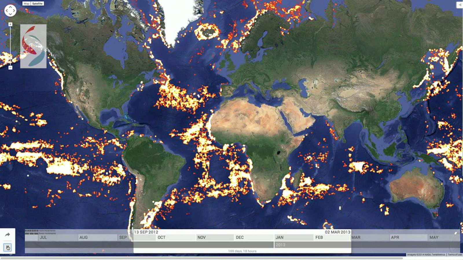 These Animated Maps Track Every Large Fishing Boat In The