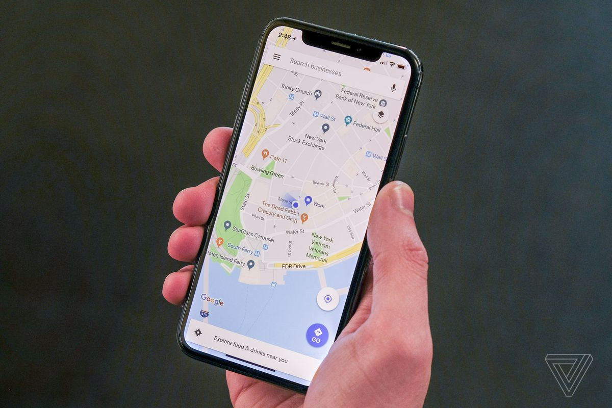 Google Maps Gets Updated For Iphone X The Verge