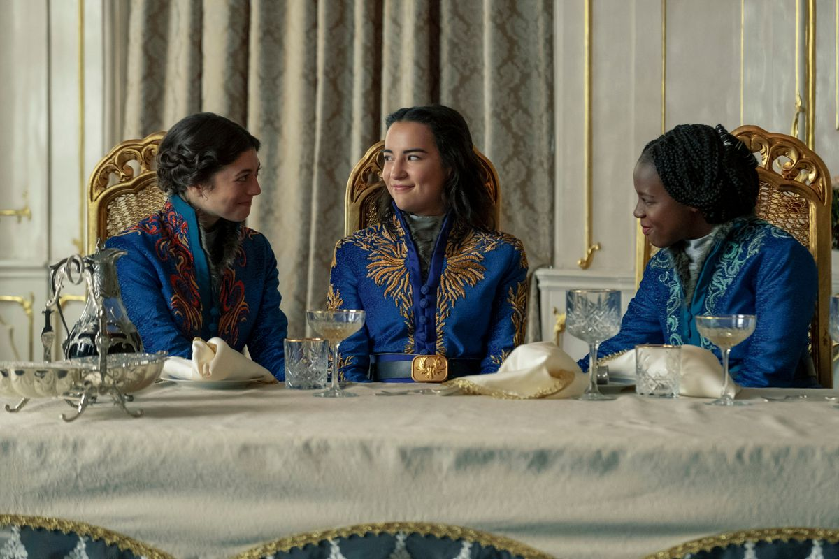 alina sitting at a table with Marie and Nadia
