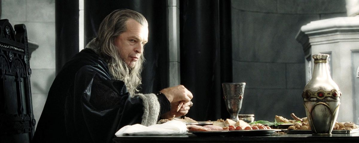 John Noble as Denethor, Steward of Gondor in The Return of the King.