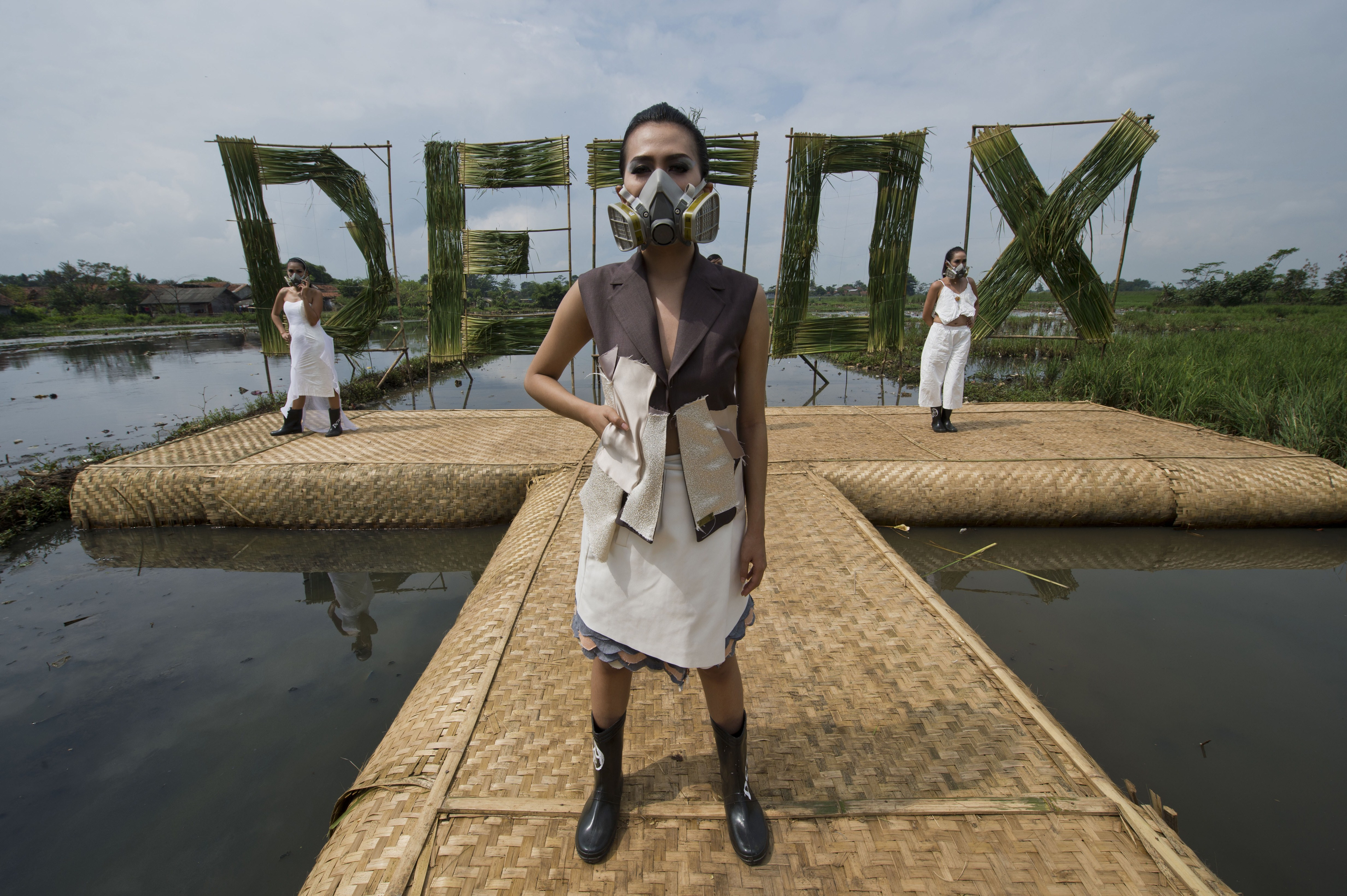 Greenpeace Activists Put On A Fashion Show To Pressure Companies Remove Toxic Chemicals From Their Supply Chains In Indonesia And Address Water