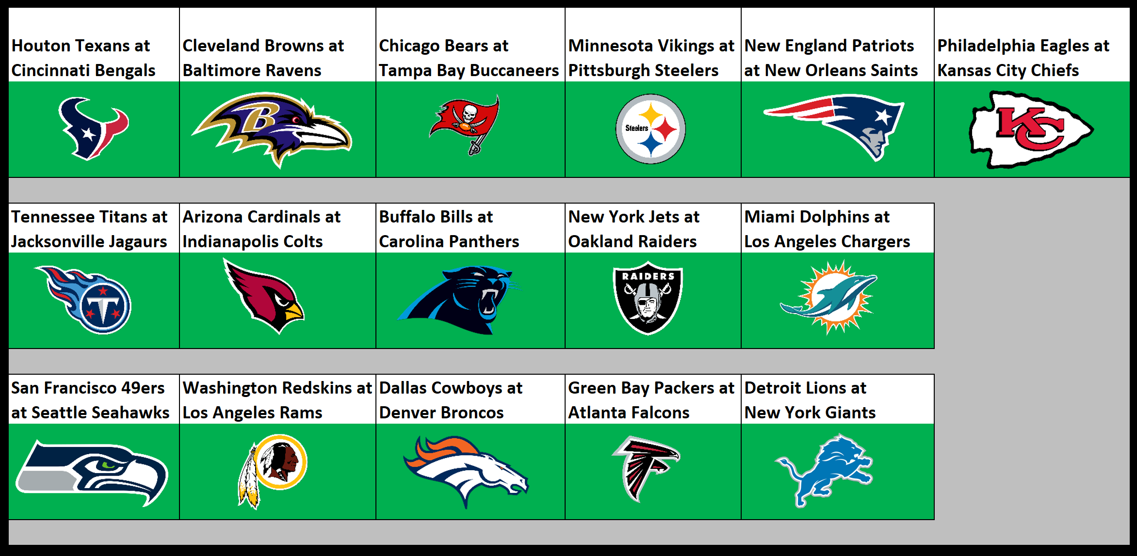 NFL playoff odds changes