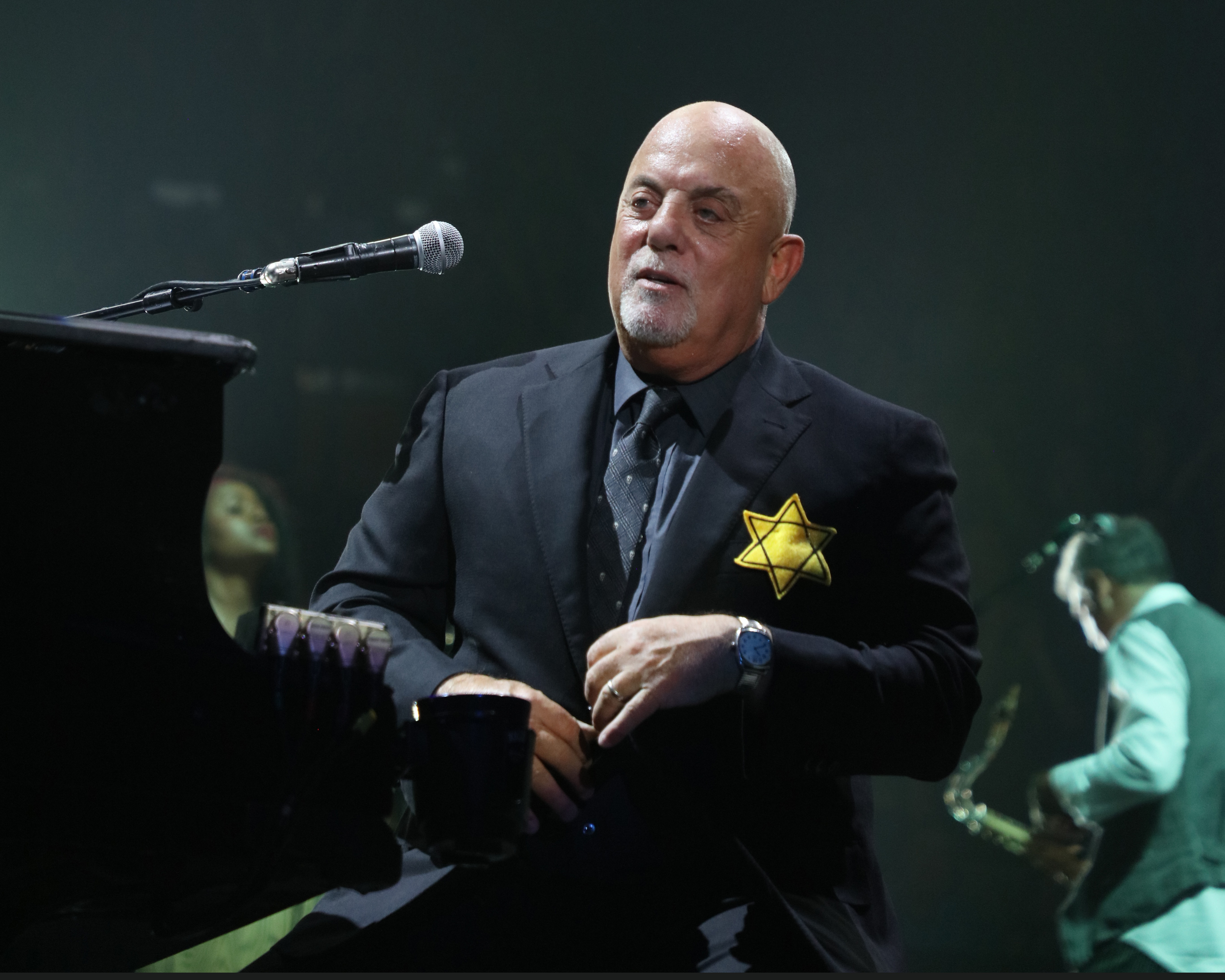 Billy Joel at New York City's Madison Square Garden on August 21st, 2017.