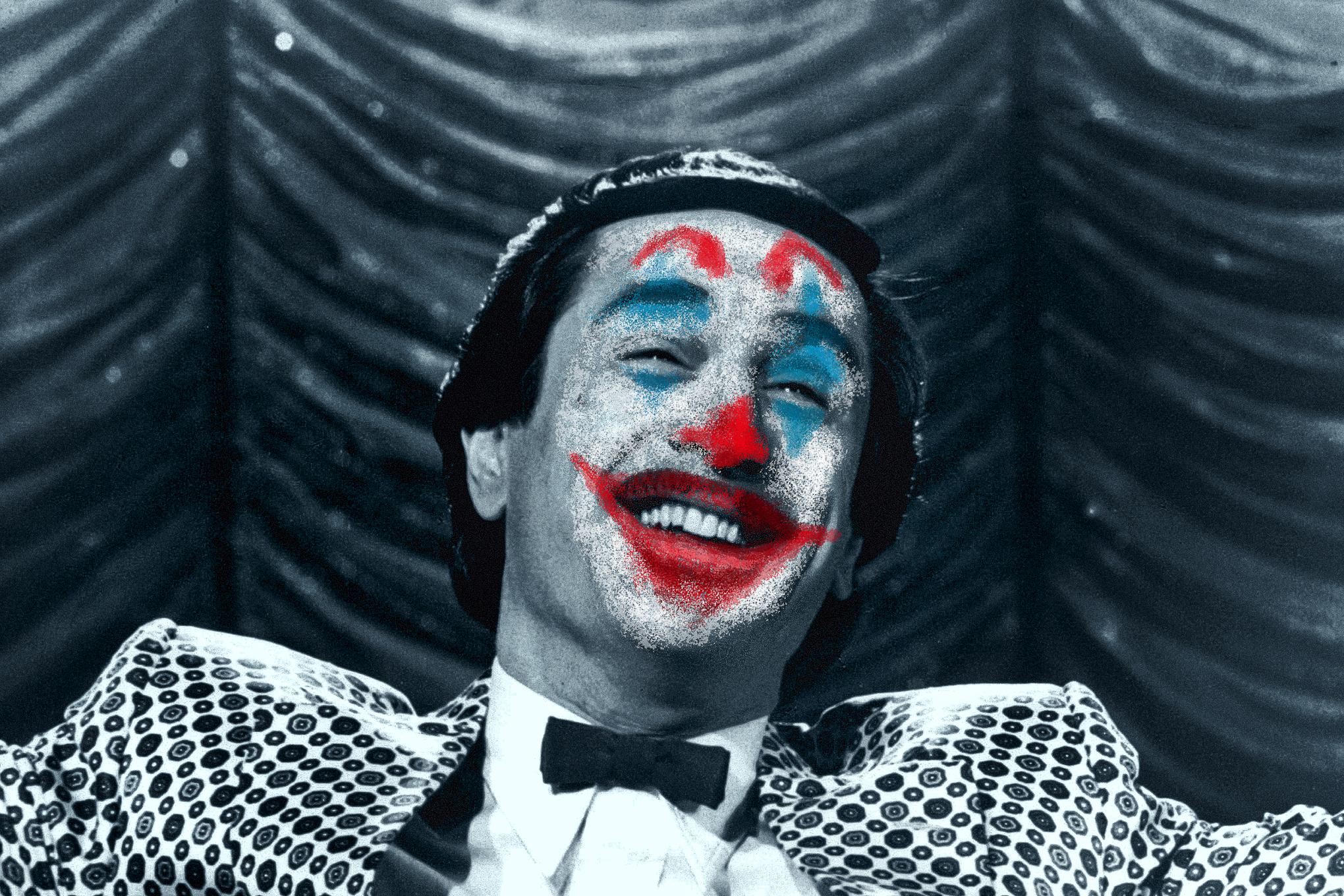 Robert de Niro photo illustration as Joker