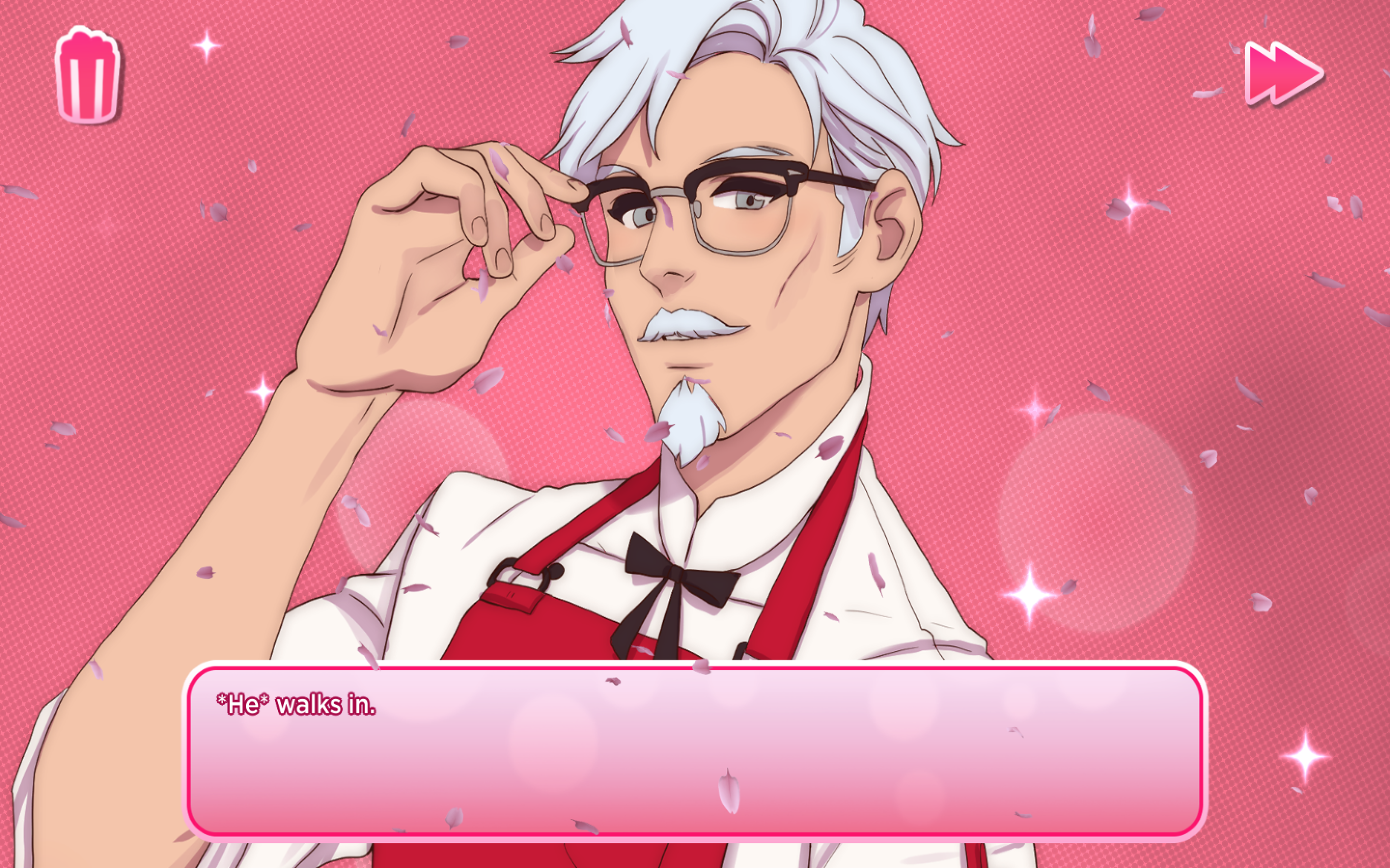 Anime Colonel Sanders looking single and ready to mingle.