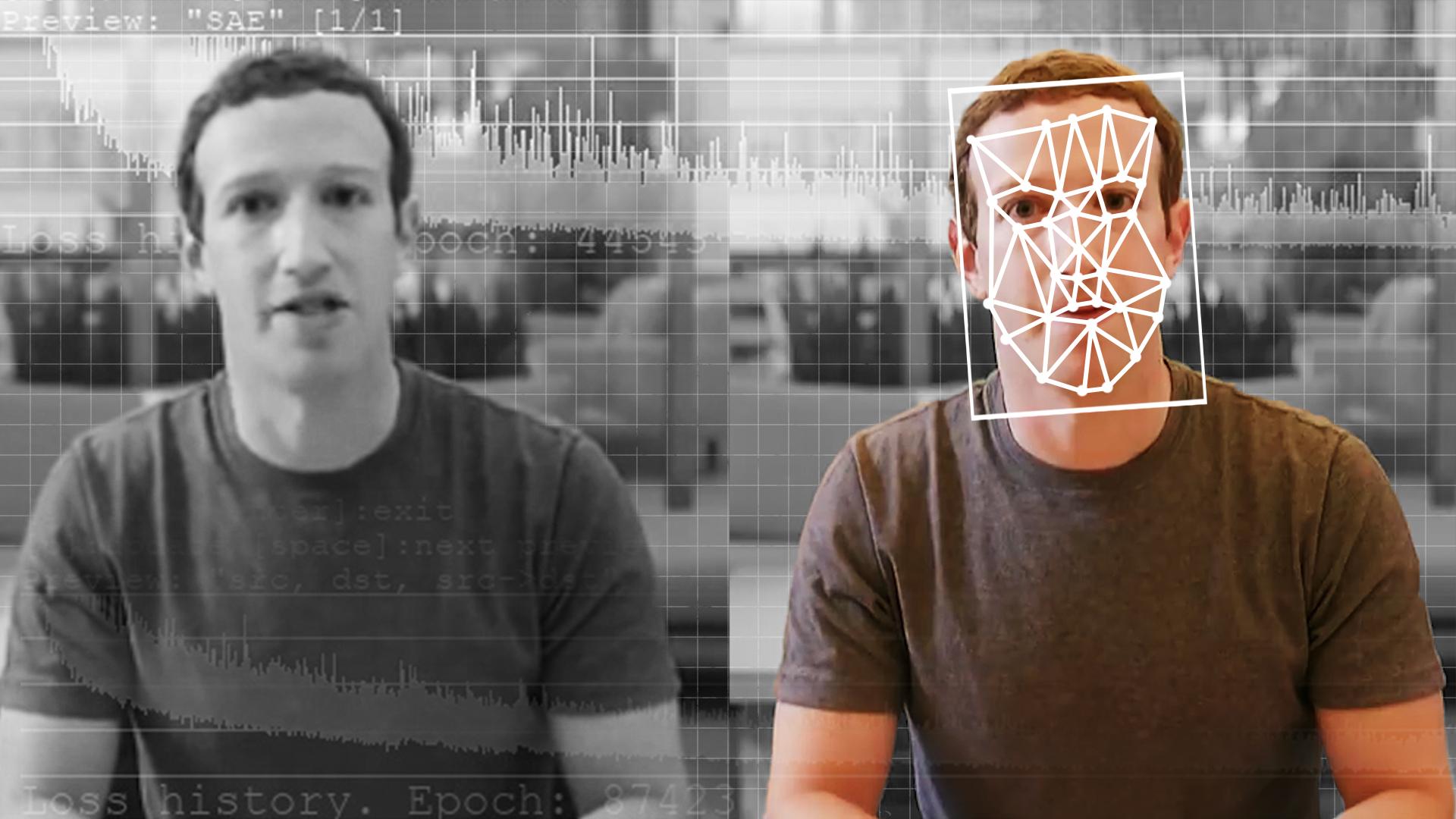 A comparison of an original and deepfake video of 6D彩票网开户 CEO Mark Zuckerberg
