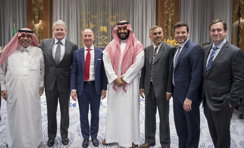 Founder of the Amazon website Jeff Bezos visits Saudi Arabia