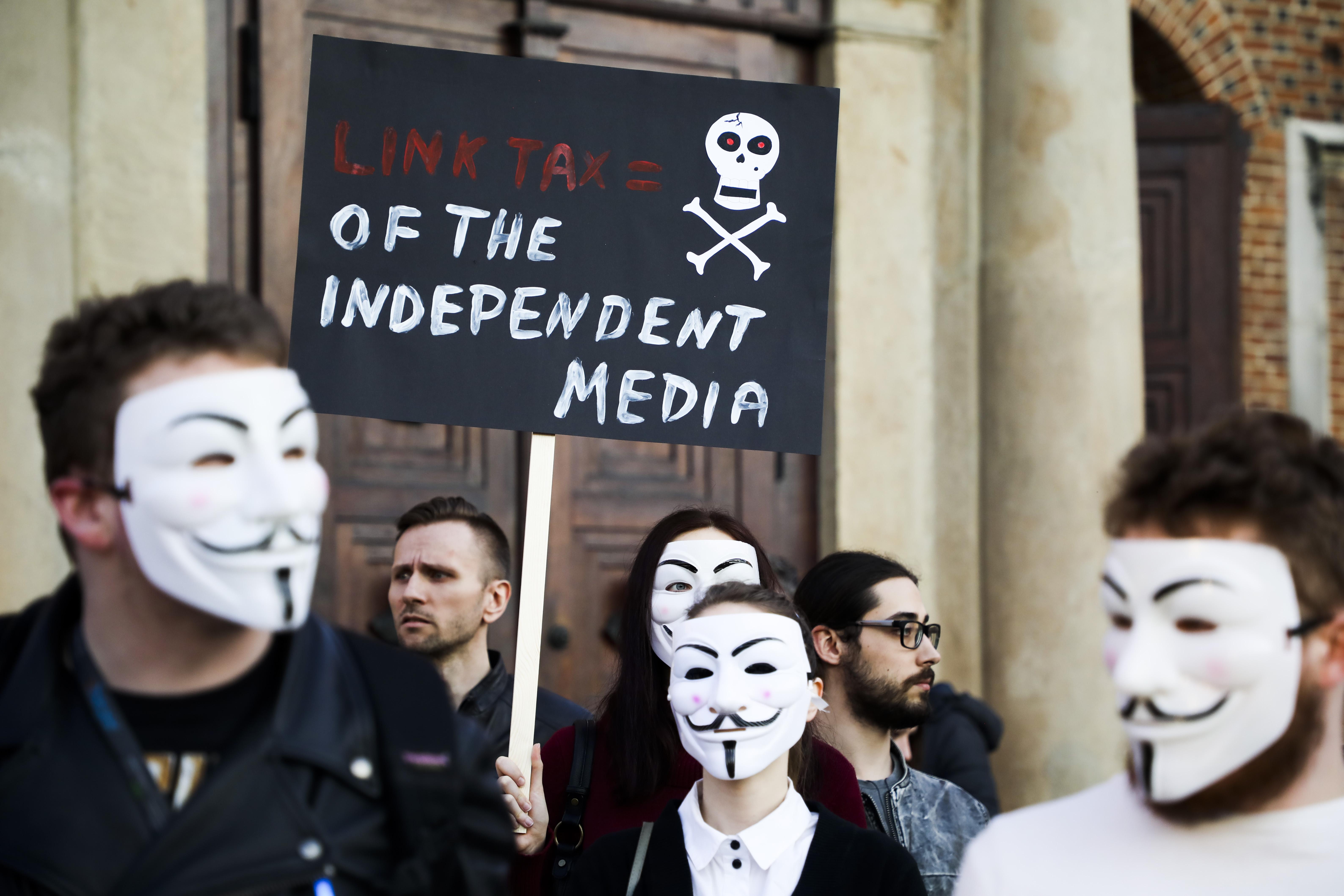 'Stop ACTA 2' Protest In Krakow