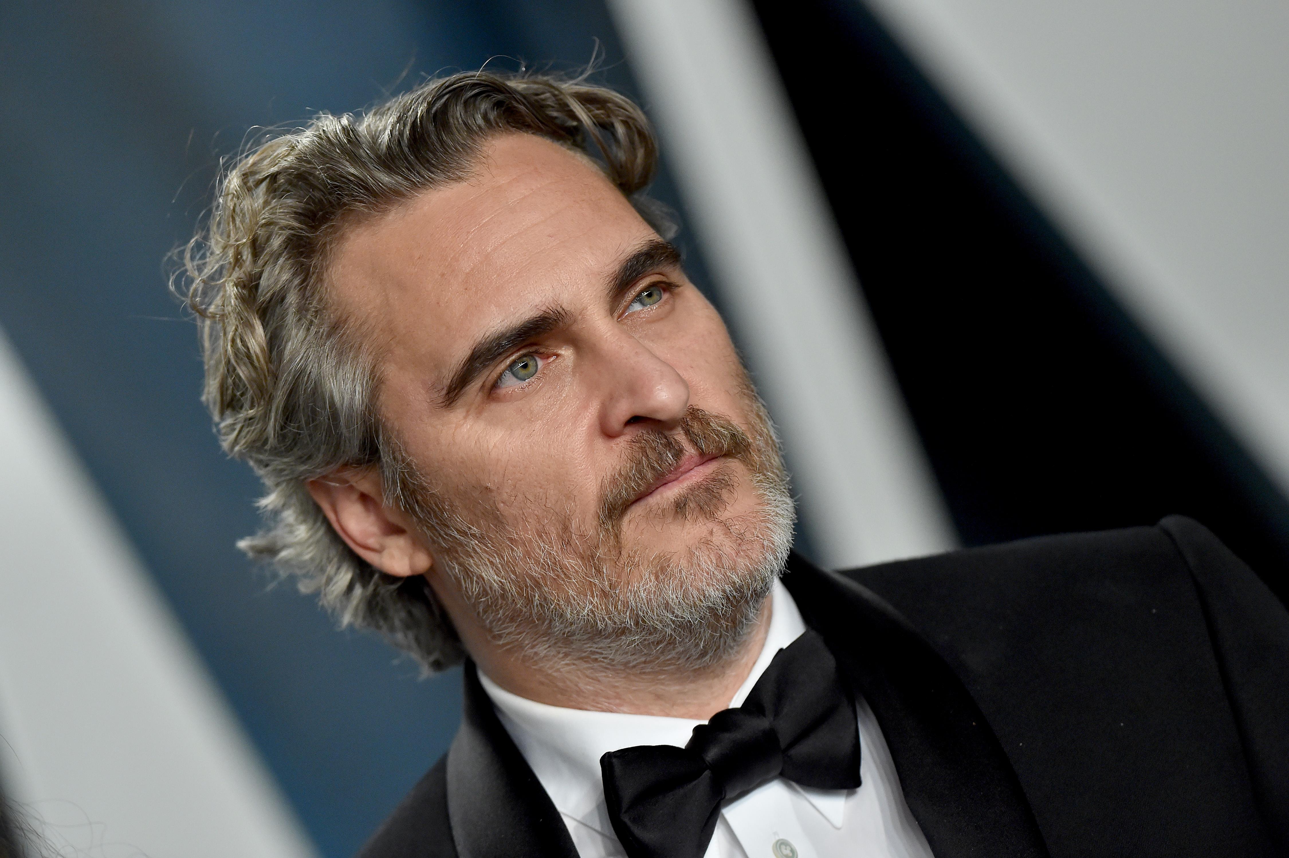 Joaquin Phoenix in a tuxedo