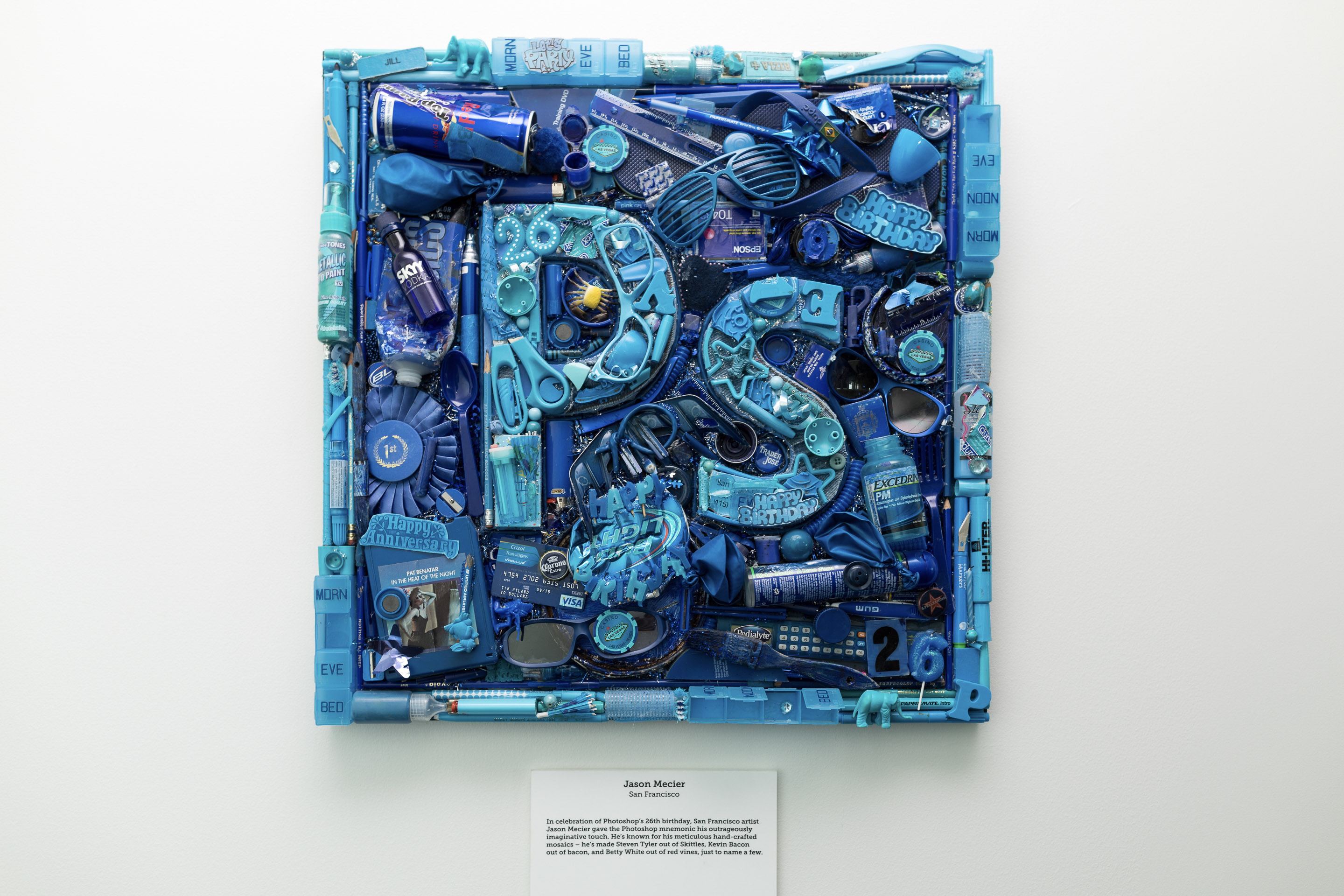 A mosaic of the Photoshop icon