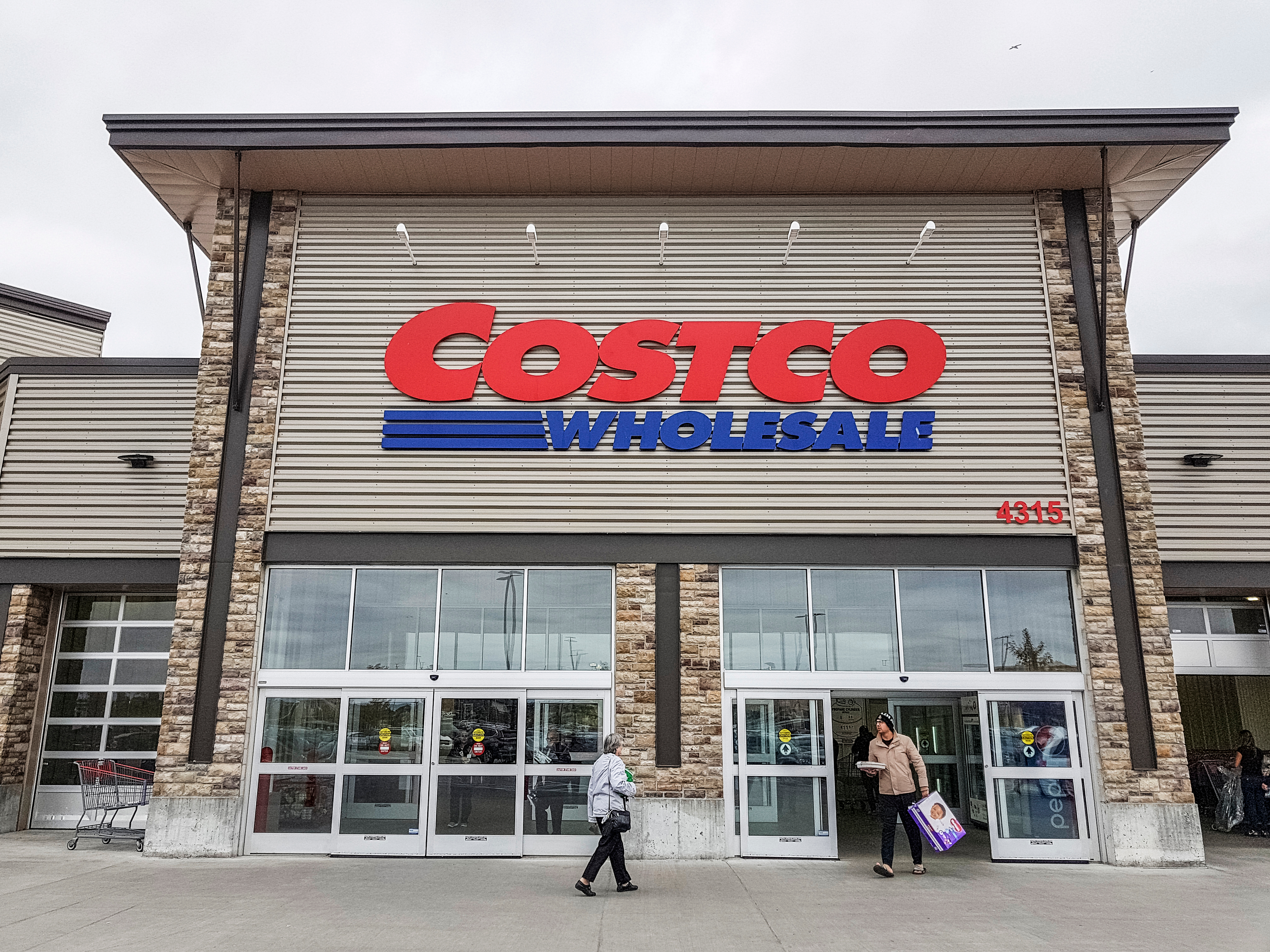 Exterior of a Costco Wholesale store