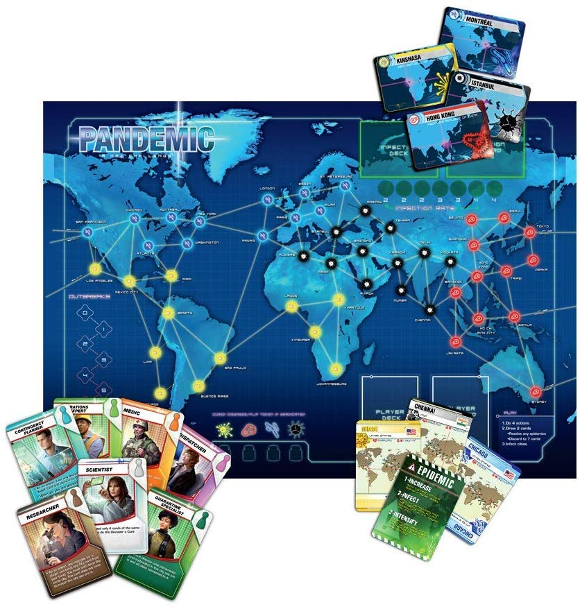 The board for Pandemic