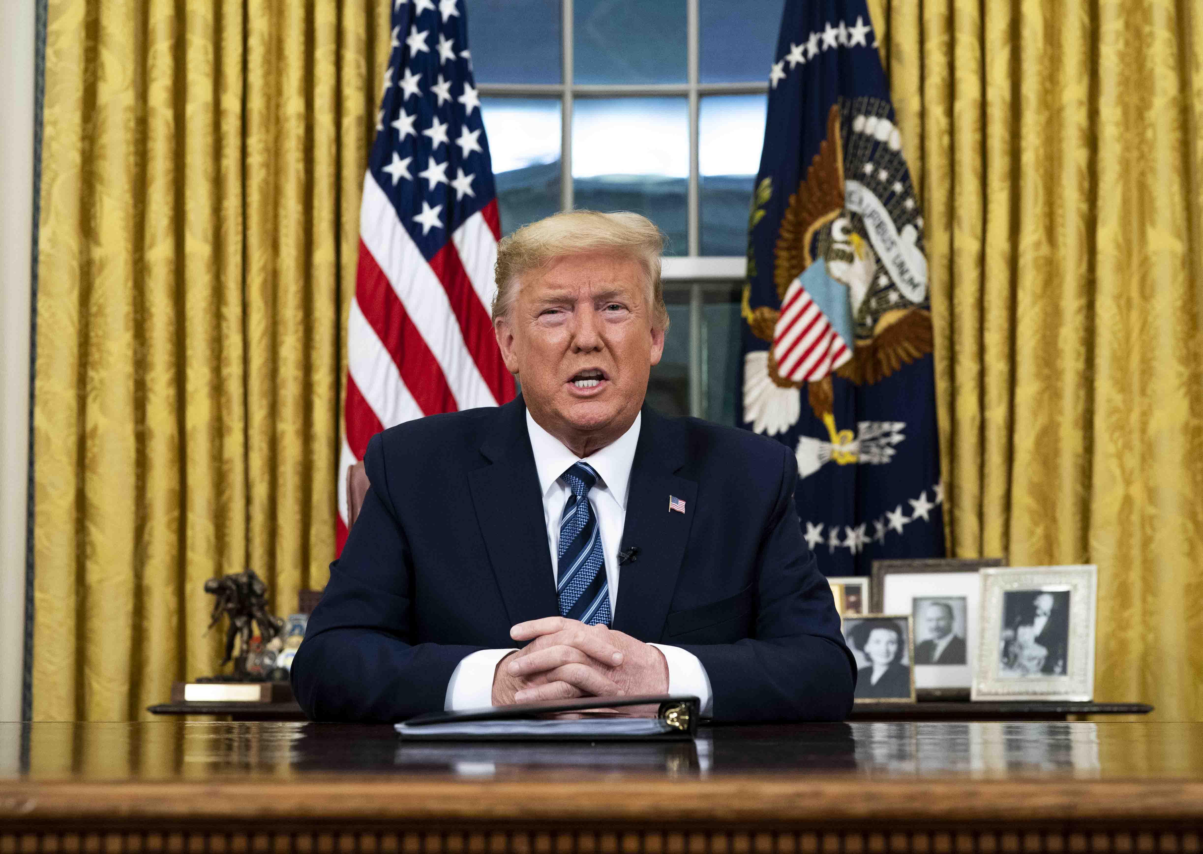 President Trump Addresses Nation From White House On Coronavirus