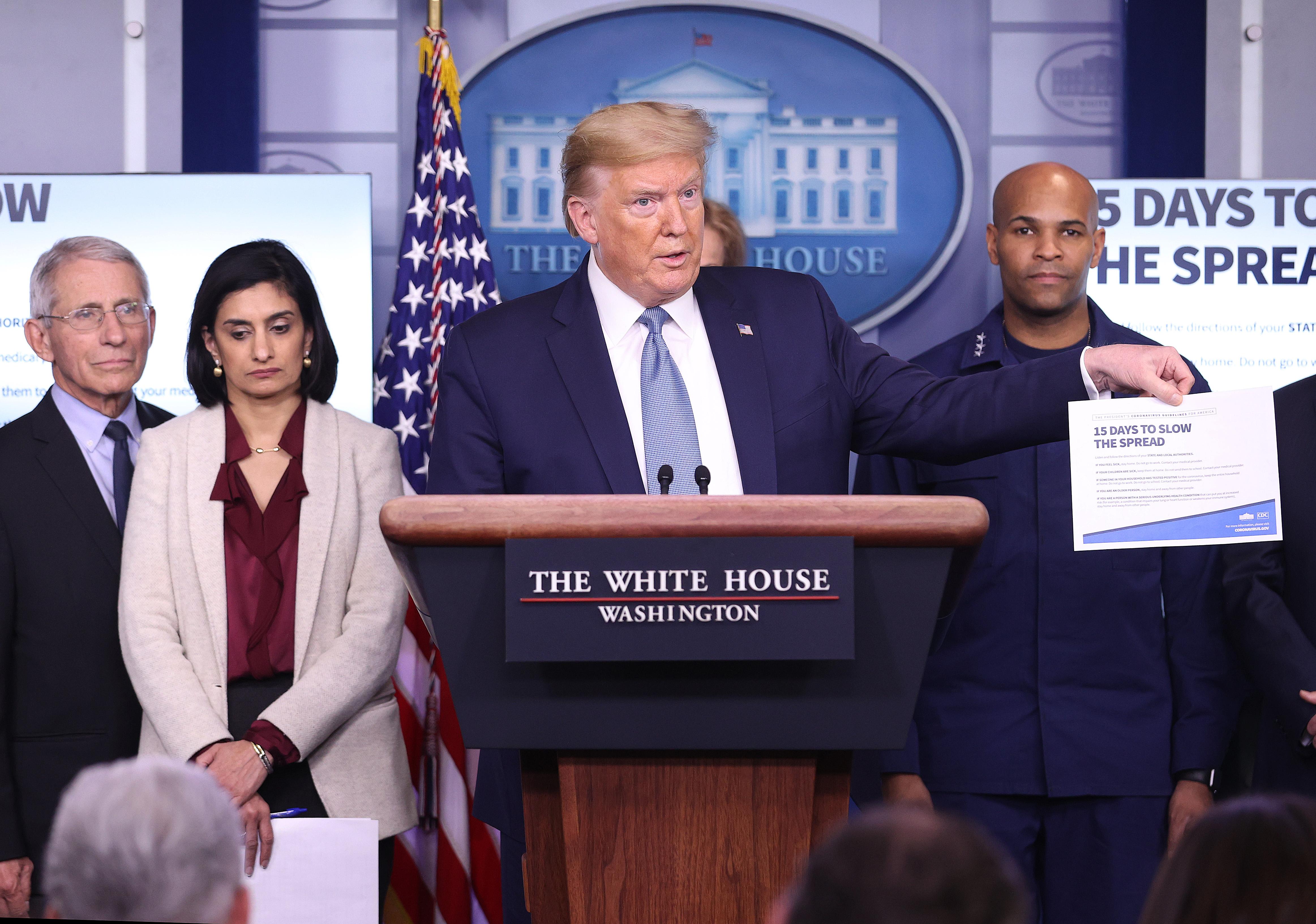 Coronavirus Task Force Briefs Press At White House
