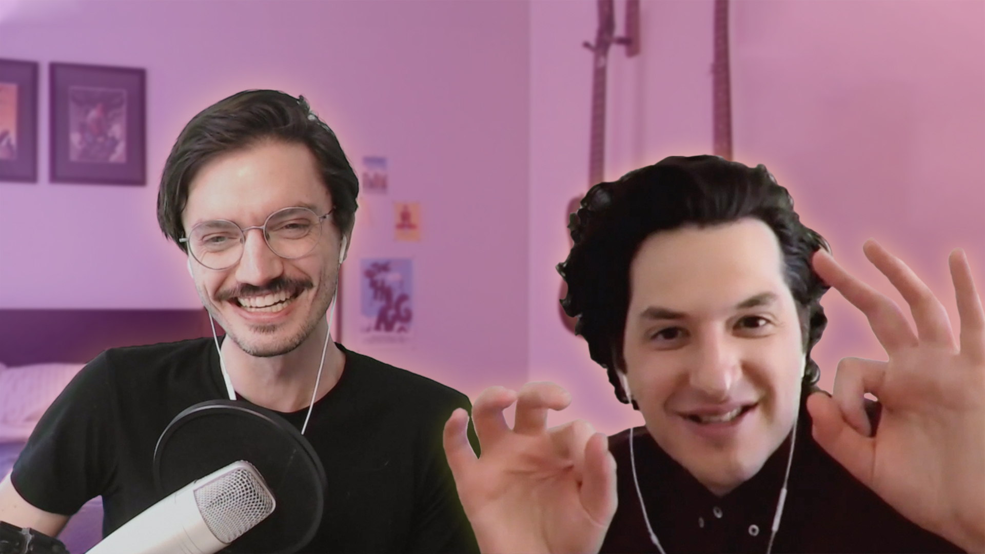 Ben Schwartz and Patrick Gill have a chat on Zoom