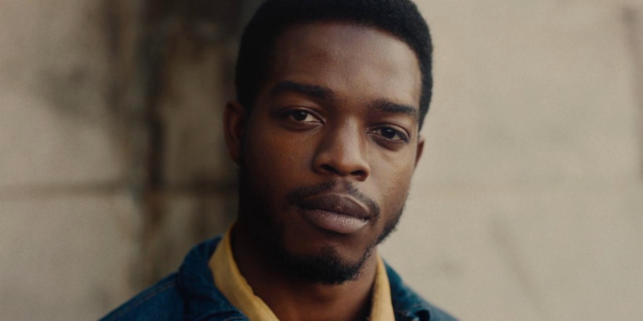 Stephen James stares at camera as Fonny in If Beale Street Could talk