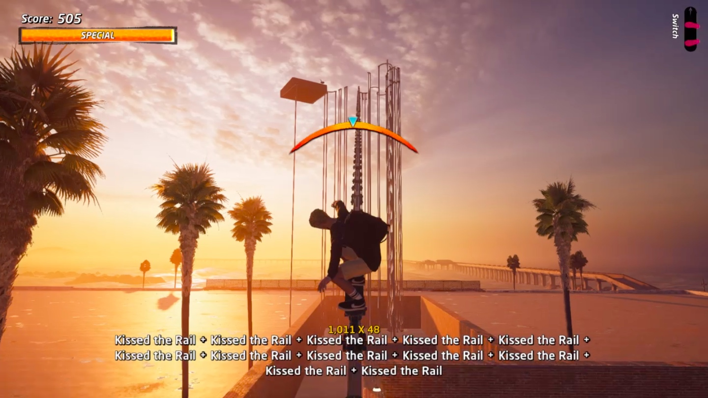 A screenshot of the Create A Park level Roller Coast from Tony Hawk's Pro Skater 1 and 2