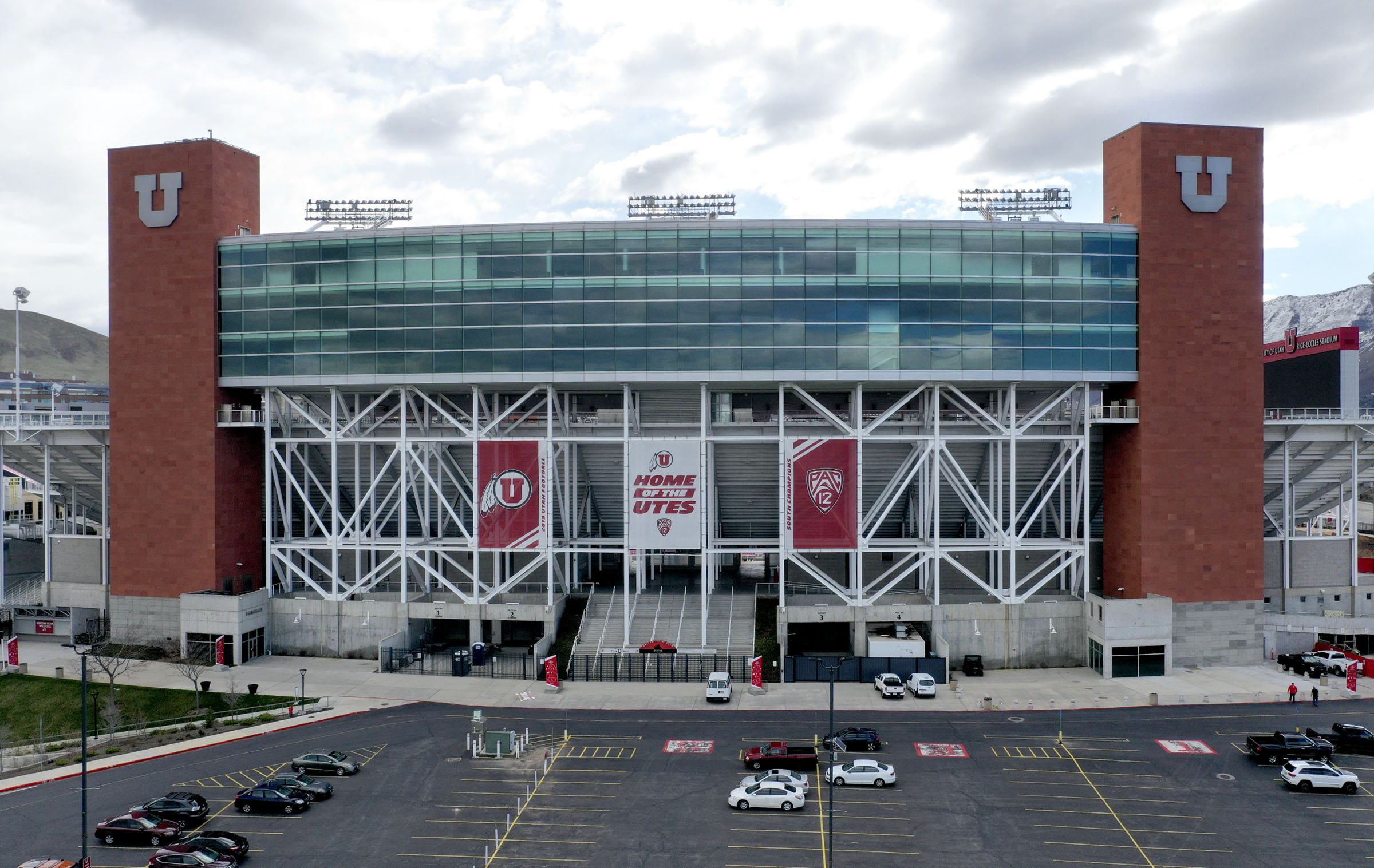 Rice-Eccles Stadium is Salt Lake City is photographed on Tuesday, March 31, 2020.