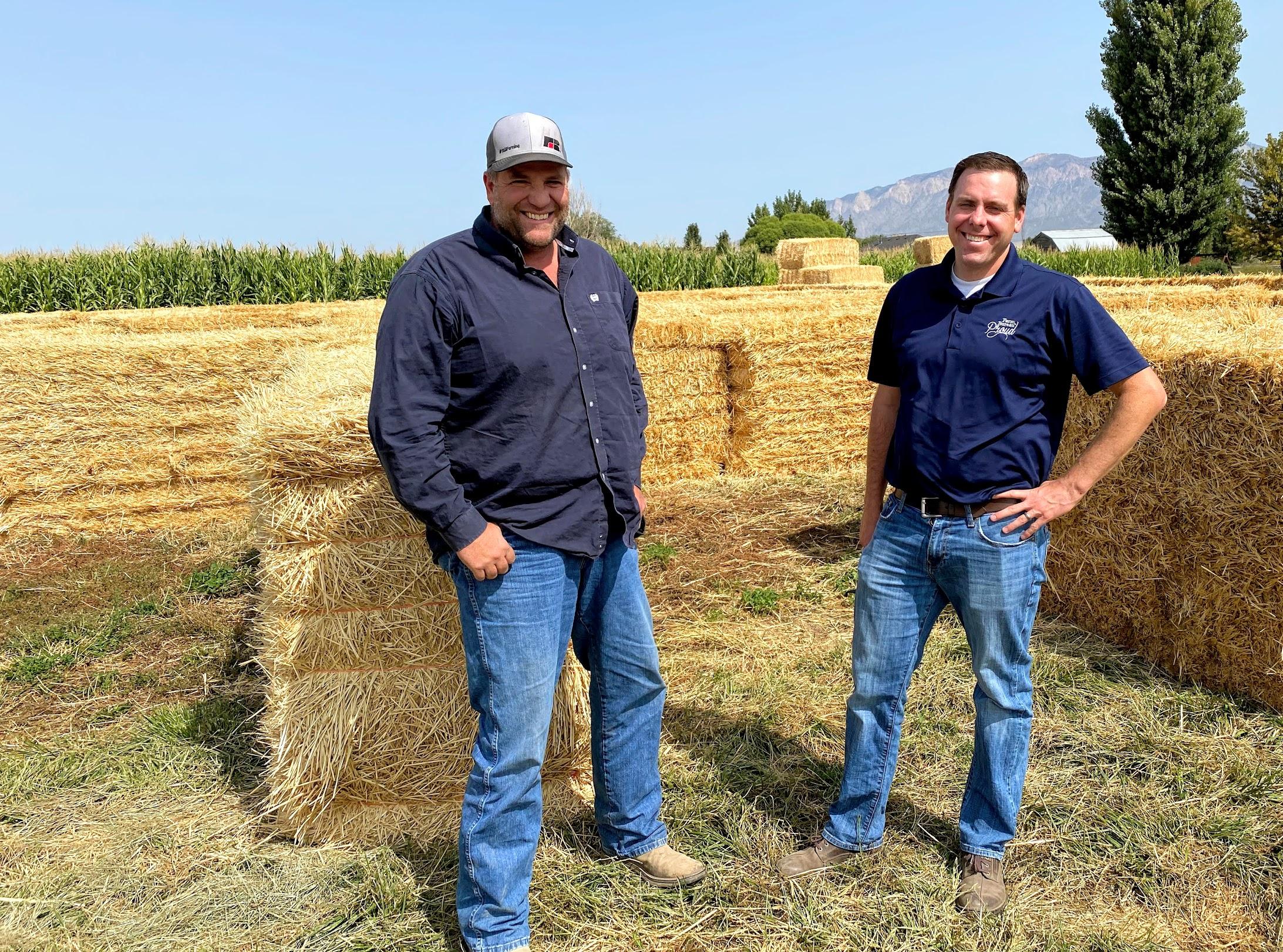 Utah Farm Bureau President Ron Gibson, left, and Matt Hargreaves, the bureau's vice president in charge of communications.