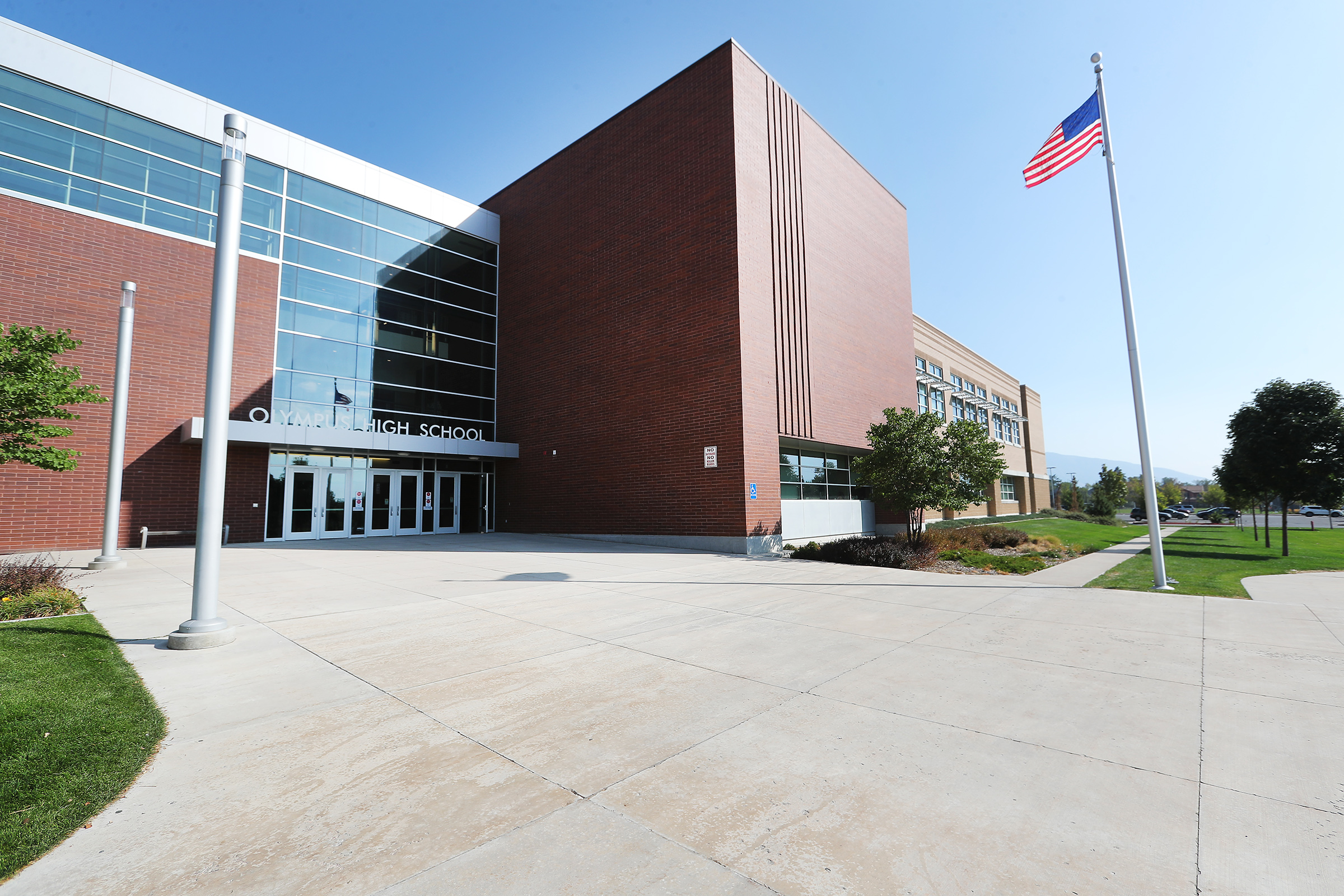 Olympus High School in Holladay is pictured on Monday, Sept. 21, 2020.