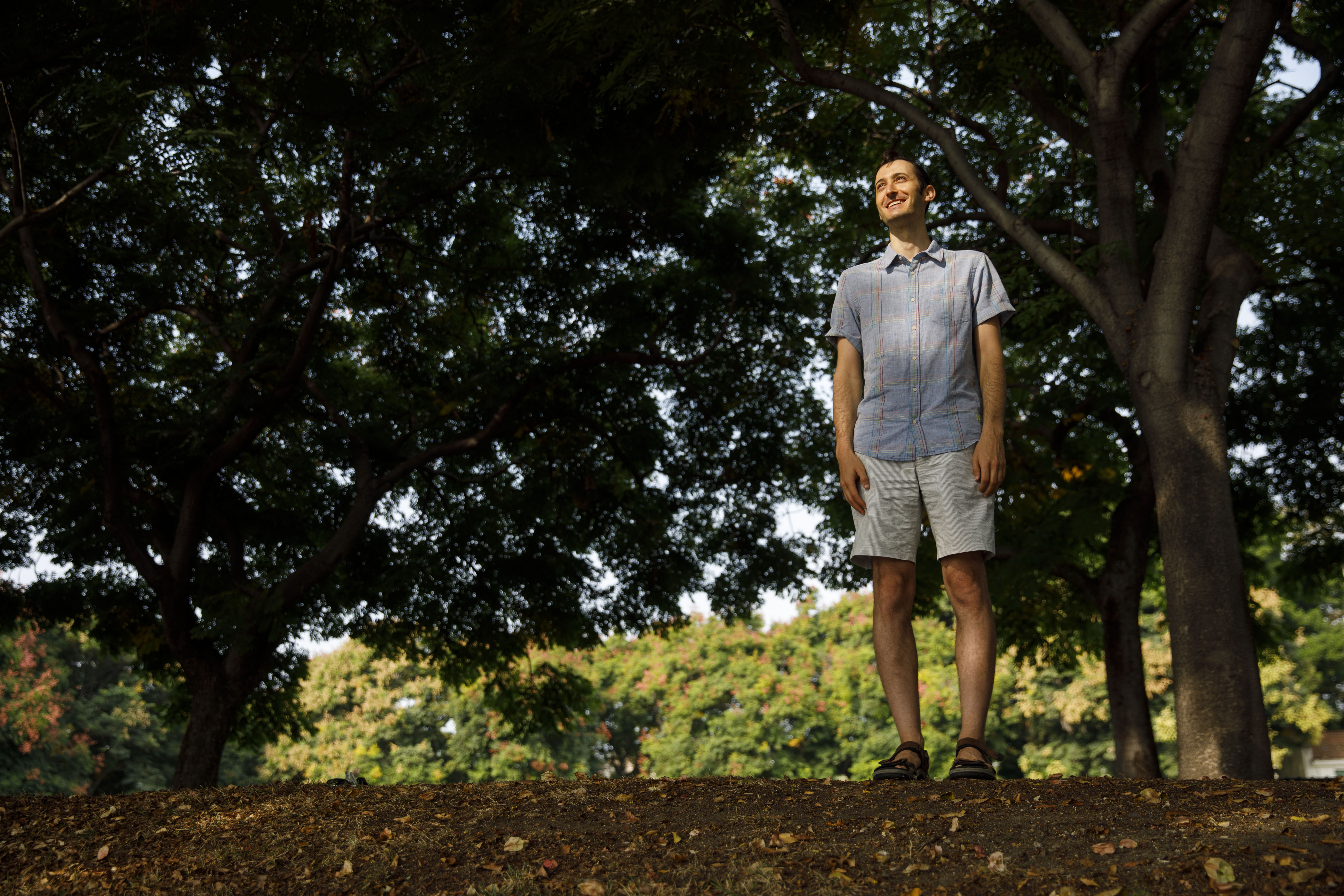 Joshua Krug, a religious studies scholar and author finishing his doctoral program, stands for a portrait in Beverly Hills, Calif., on Thursday, Sept. 17, 2020.