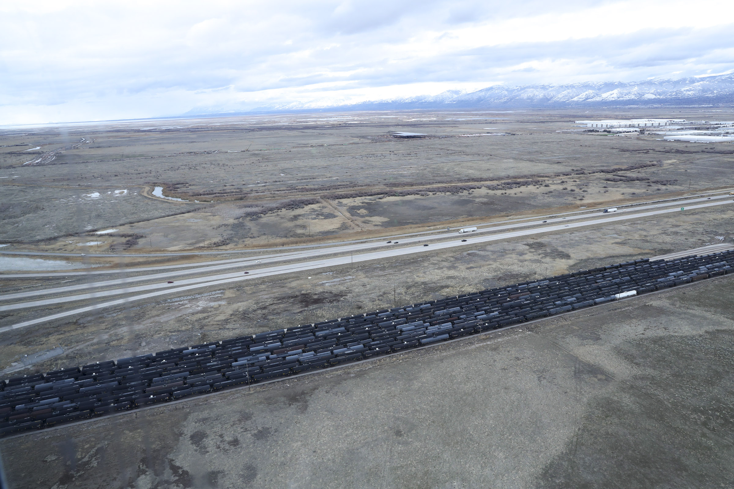 The area at I-80 near 7200 West where the Utah Inland Port is planned to be built in Salt Lake City is pictured on Monday, Jan. 27, 2020.