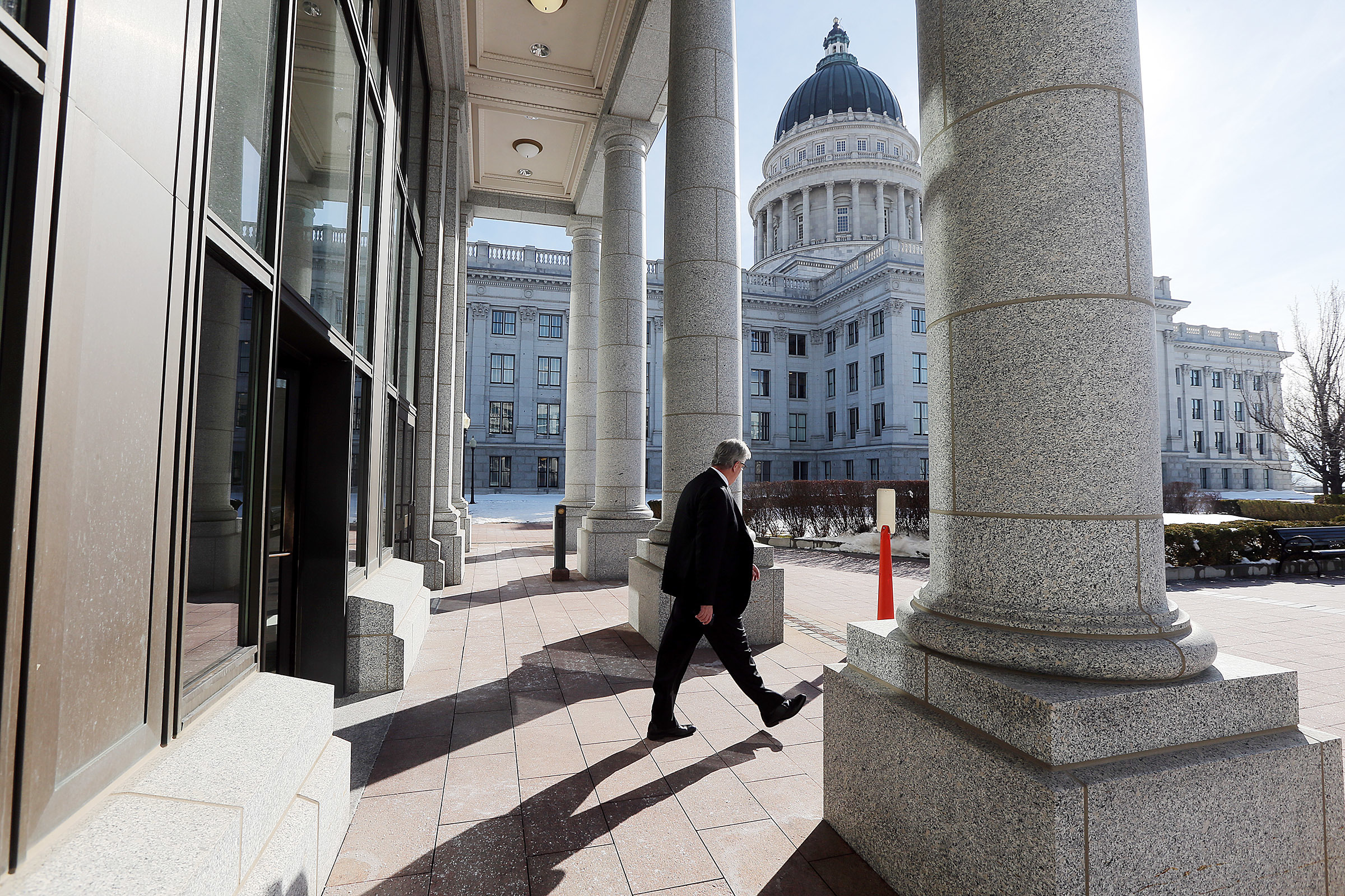 FILE - The Utah Capitol is pictured on Wednesday, March 7, 2018, the penultimate day of the 2018 Utah Legislature.