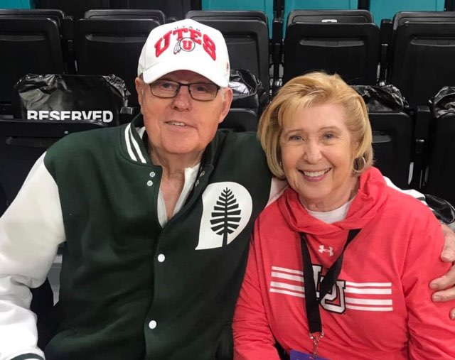 Jim and Barbara Wickman, the parents of Jan Krystkowiak. The wife of the University of Utah head basketball coach is pleading for a mask mandate after the death of her father and her mother's subsequent battle with COVID-19.