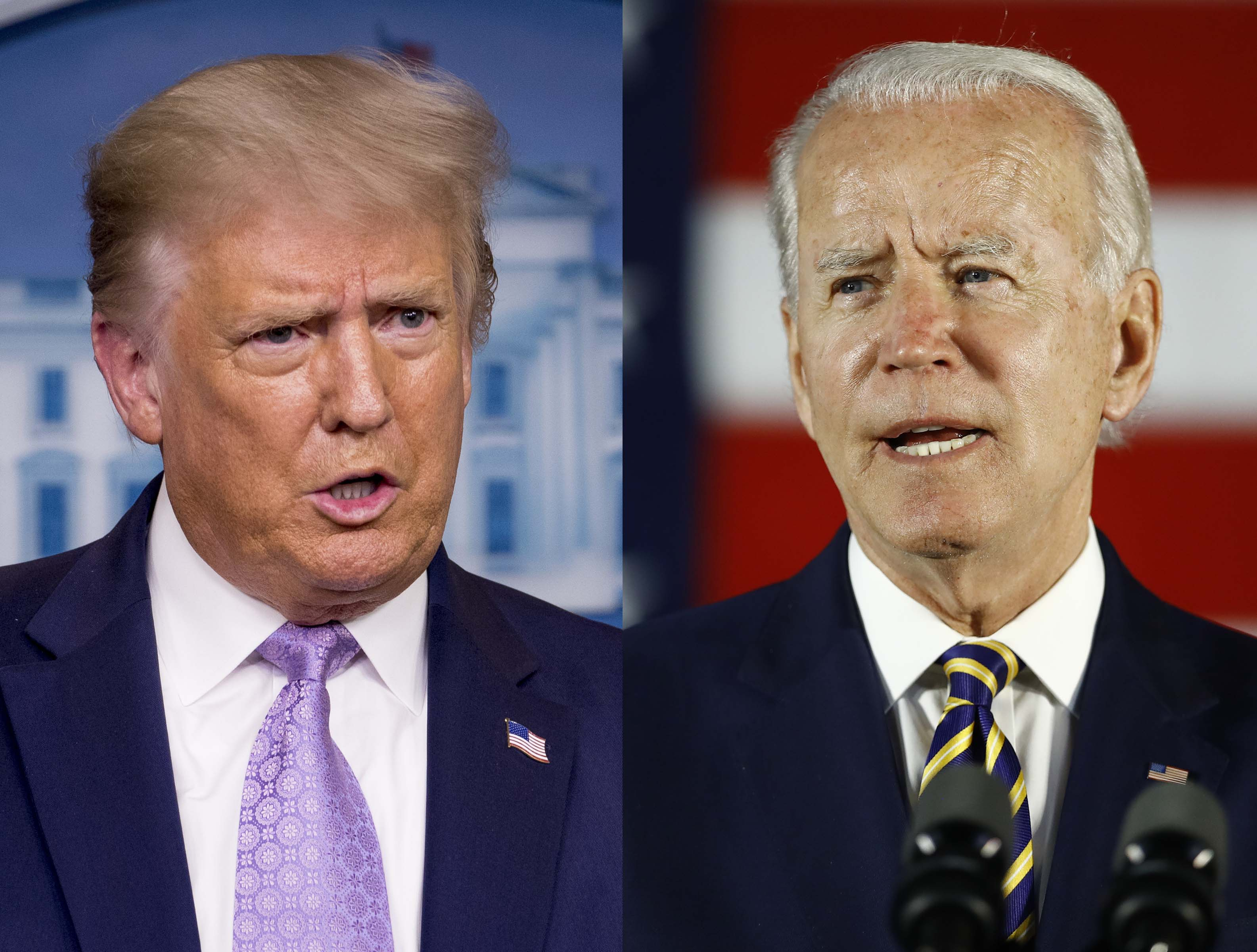 President Donald Trump and Democratic presidential nominee Joe Biden.