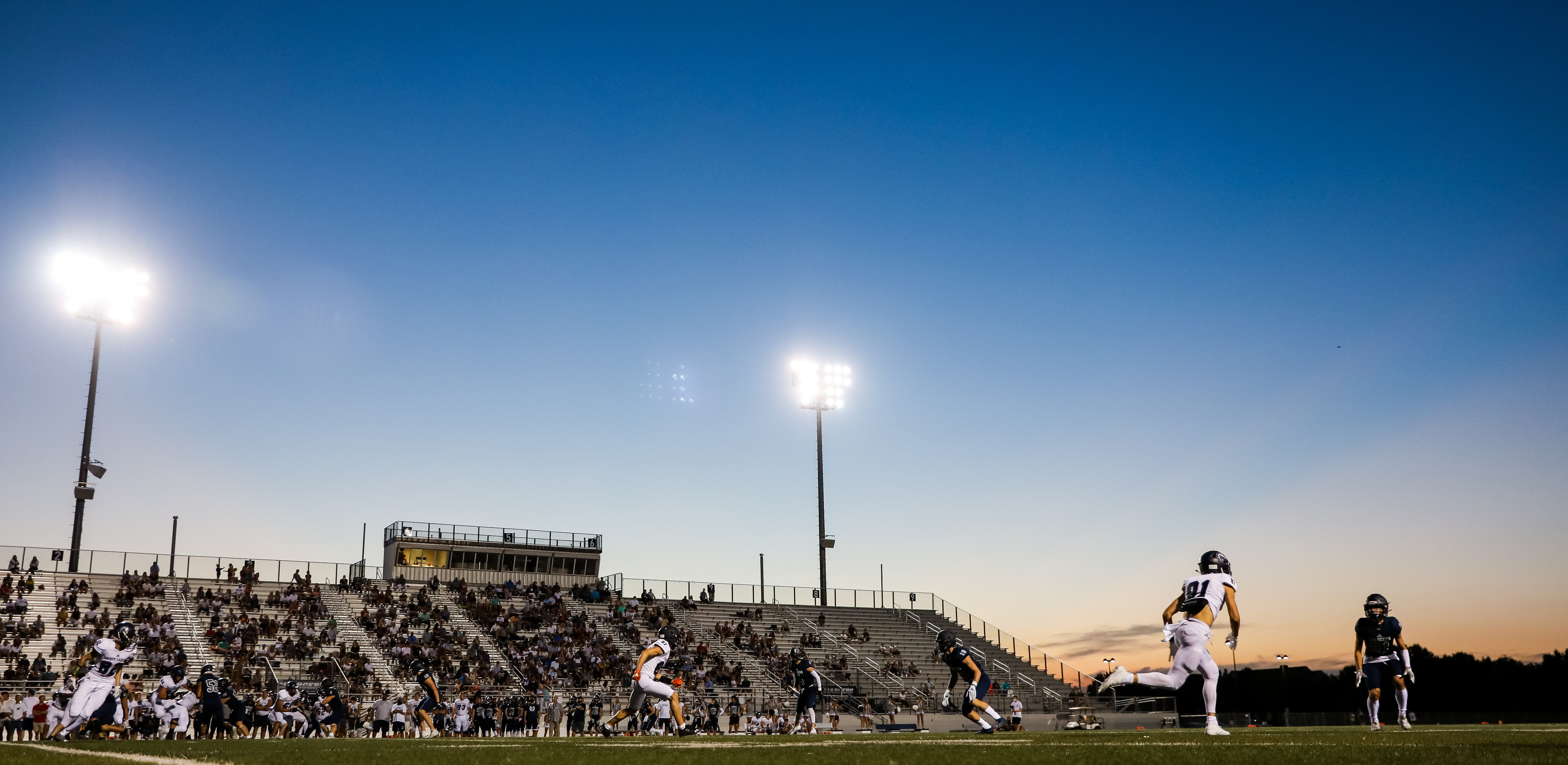 Corner Canyon football hosts its annual intrasquad scrimmage in Draper on Friday, Aug. 7, 2020.