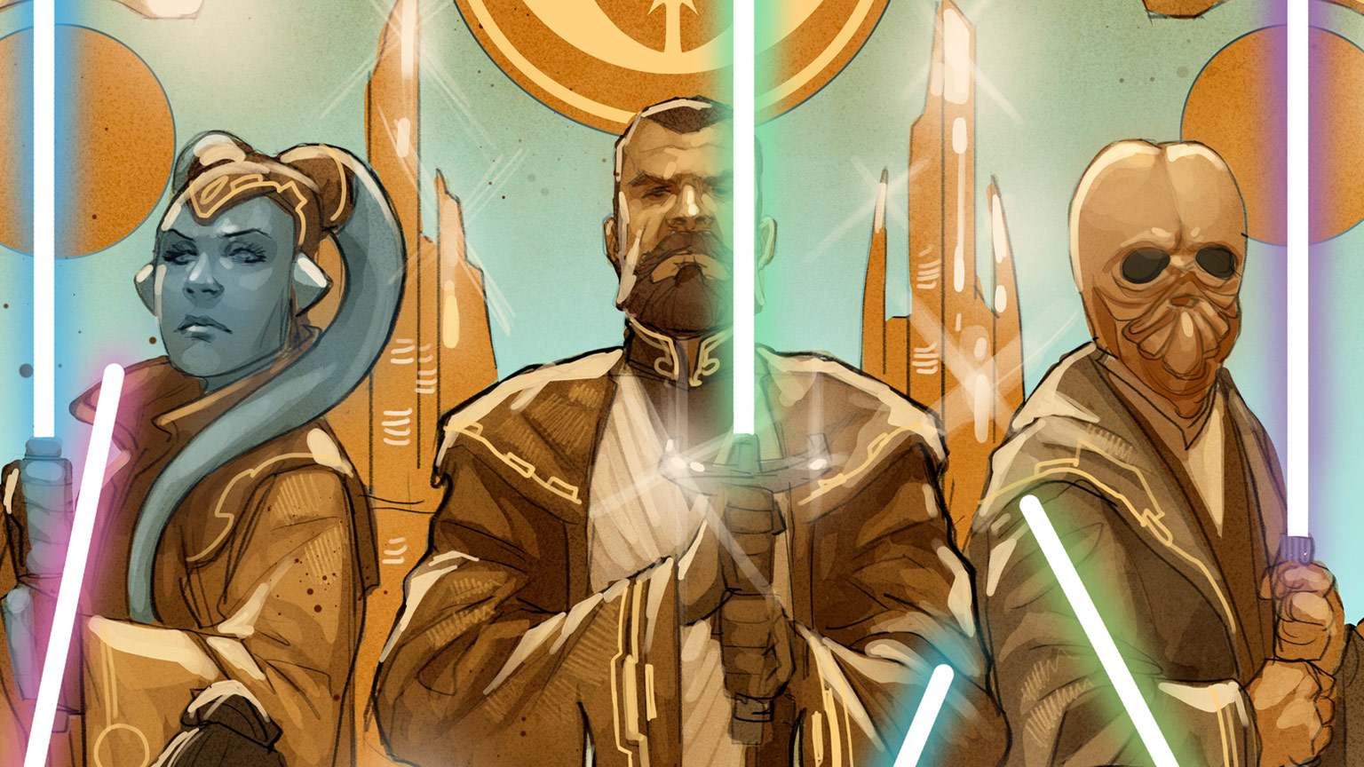 """""""The High Republic"""" is a multi-platform """"Star Wars"""" project that will tell the story of the New Republic about 200 years before the prequel trilogy, focusing on the Jedi Knights during their prime."""
