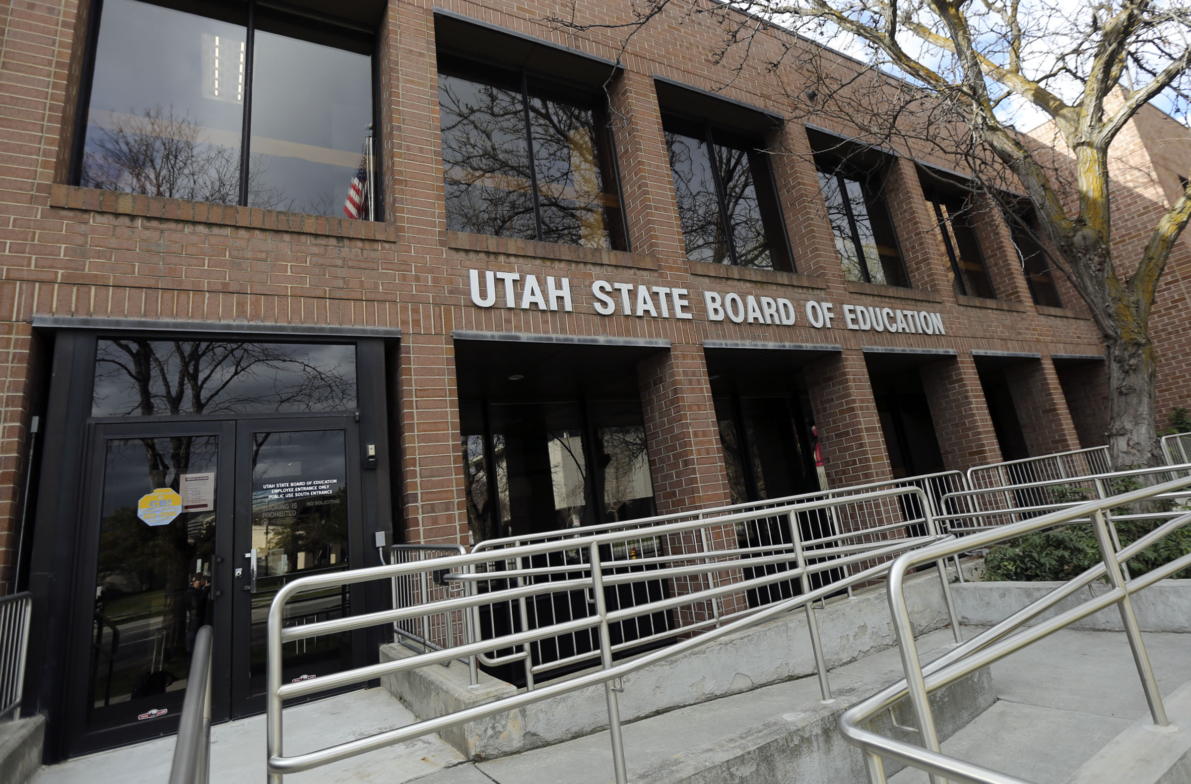 The Utah State Board of Education building in Salt Lake City is pictured on Tuesday, March 31, 2020.