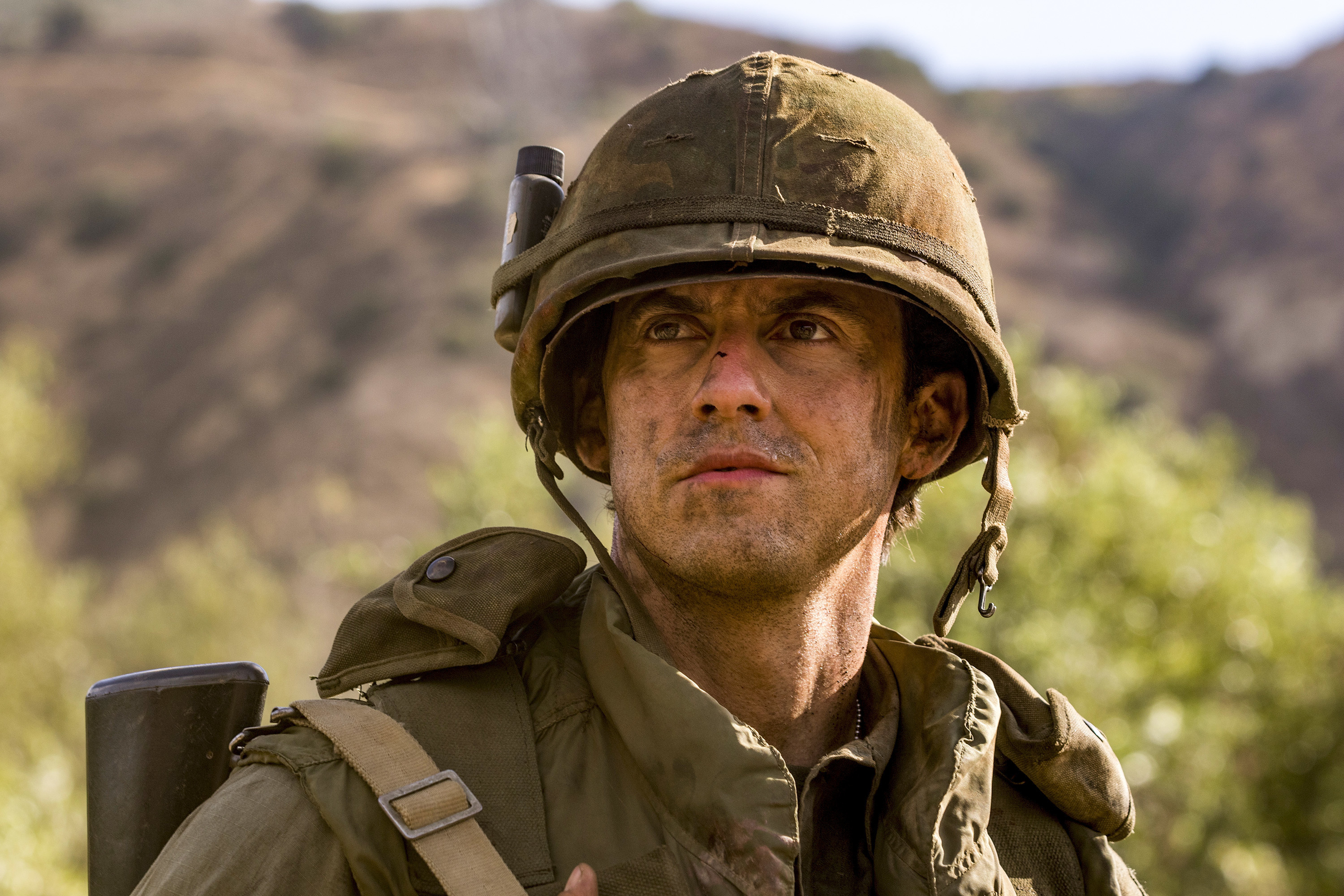 """This image provided by NBC shows Milo Ventimiglia as Jack Pearson in a scene from """"This Is Us."""""""