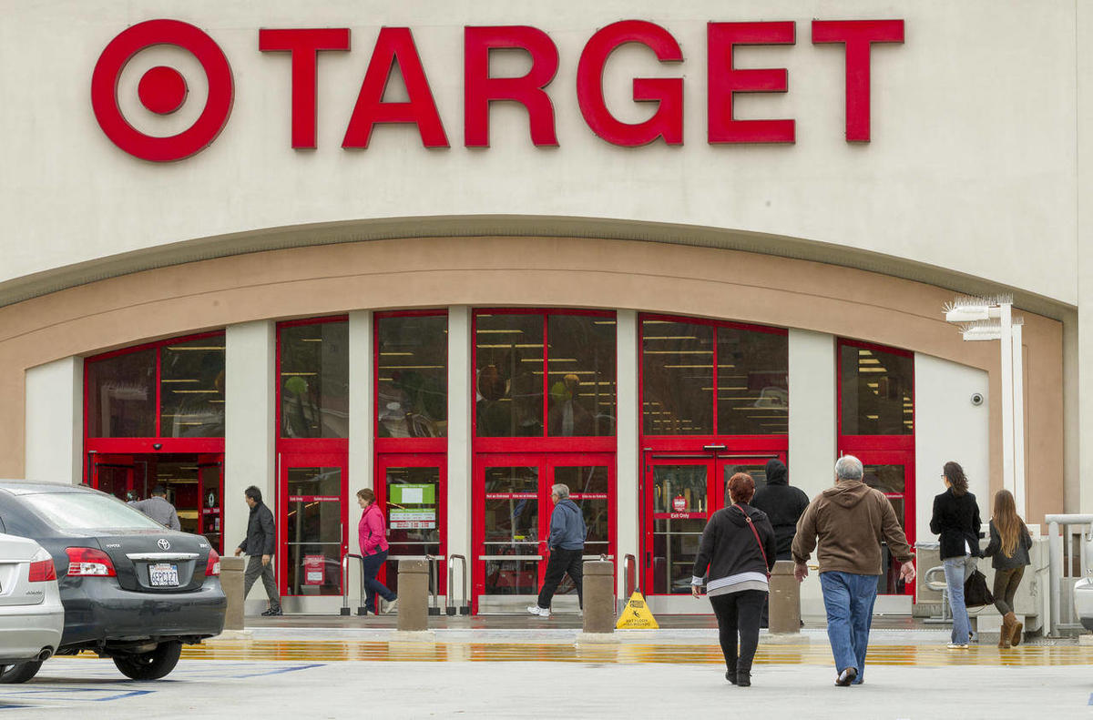 FILE — In this Dec. 19, 2013 file photo, shoppers arrive at a Target store in Los Angeles on Thursday, Dec. 19, 2013. Target reports quarterly financial results on Wednesday, May 21, 2014.
