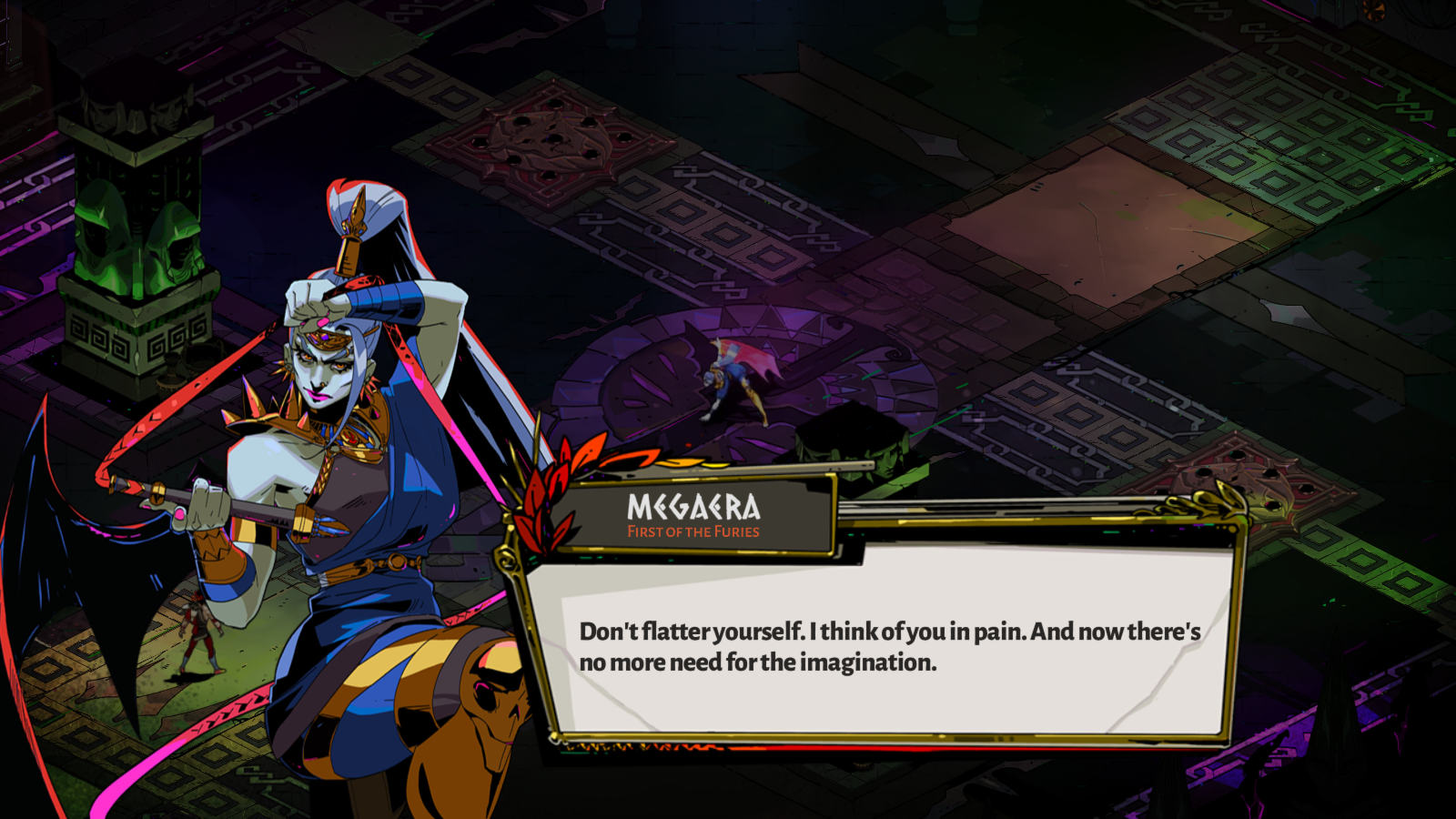 Megaera is one of the many bosses in Hades who enjoys giving Zagreus a hard time