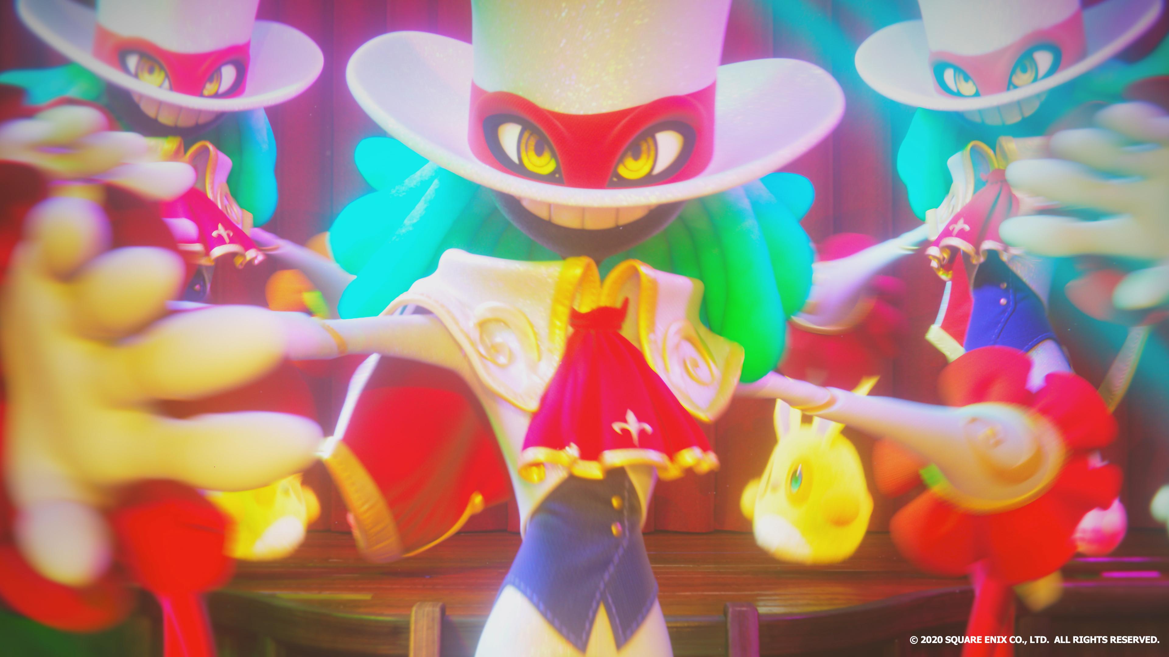Balan, of Balan Wonderworld, dances in a still from the game's opening movie