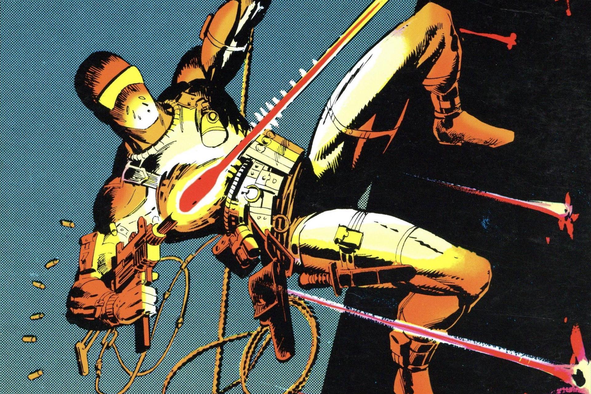 Snake Eyes fires a gun on the cover of Marvel's GI Joe #21