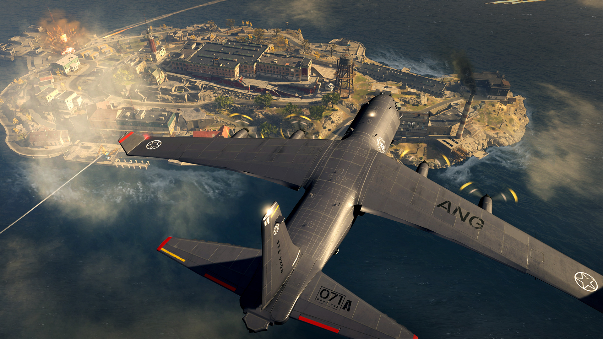 The plane flying over Rebirth Island in Call of Duty: Warzone