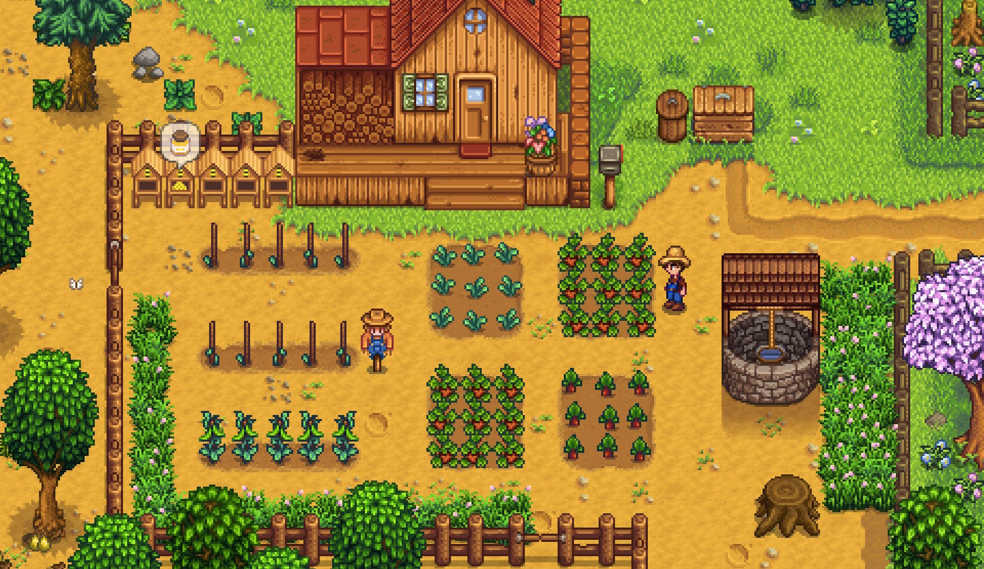 A quiet farm in Stardew Valley